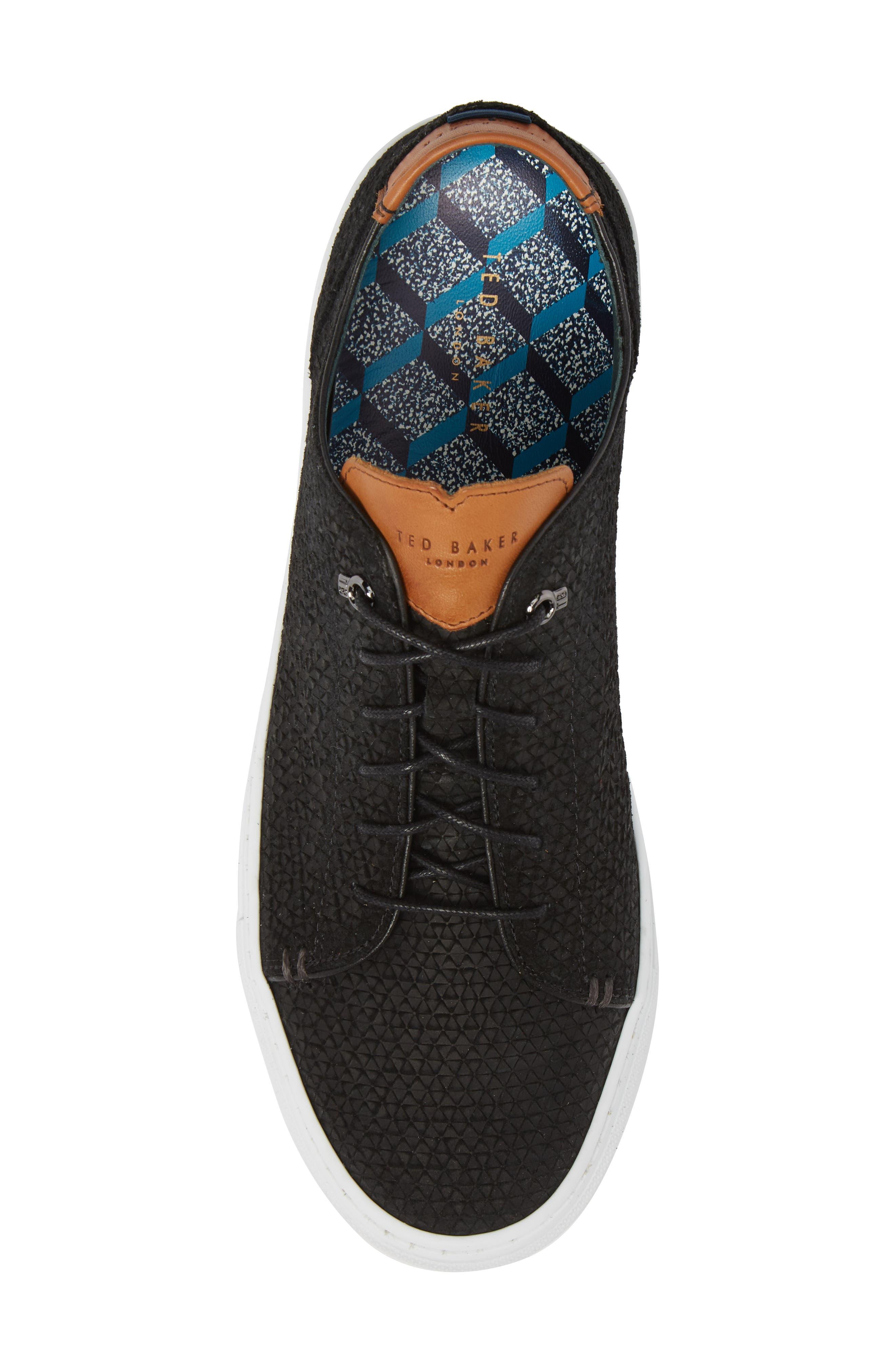 TED BAKER LONDON,                             Duukes Embossed Low Top Sneaker,                             Alternate thumbnail 5, color,                             010