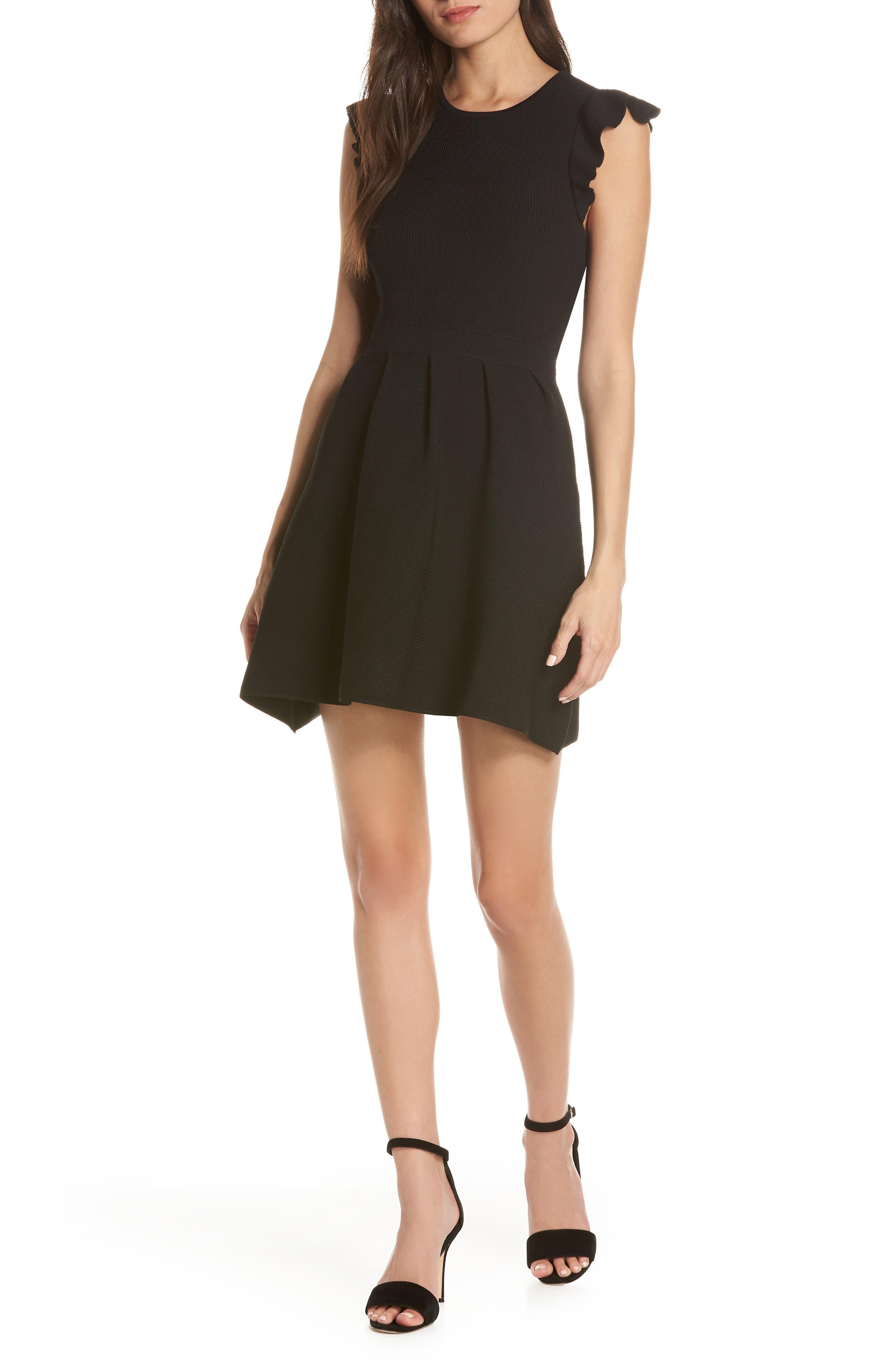 Ali & Jay Rib Sweater Dress, Black