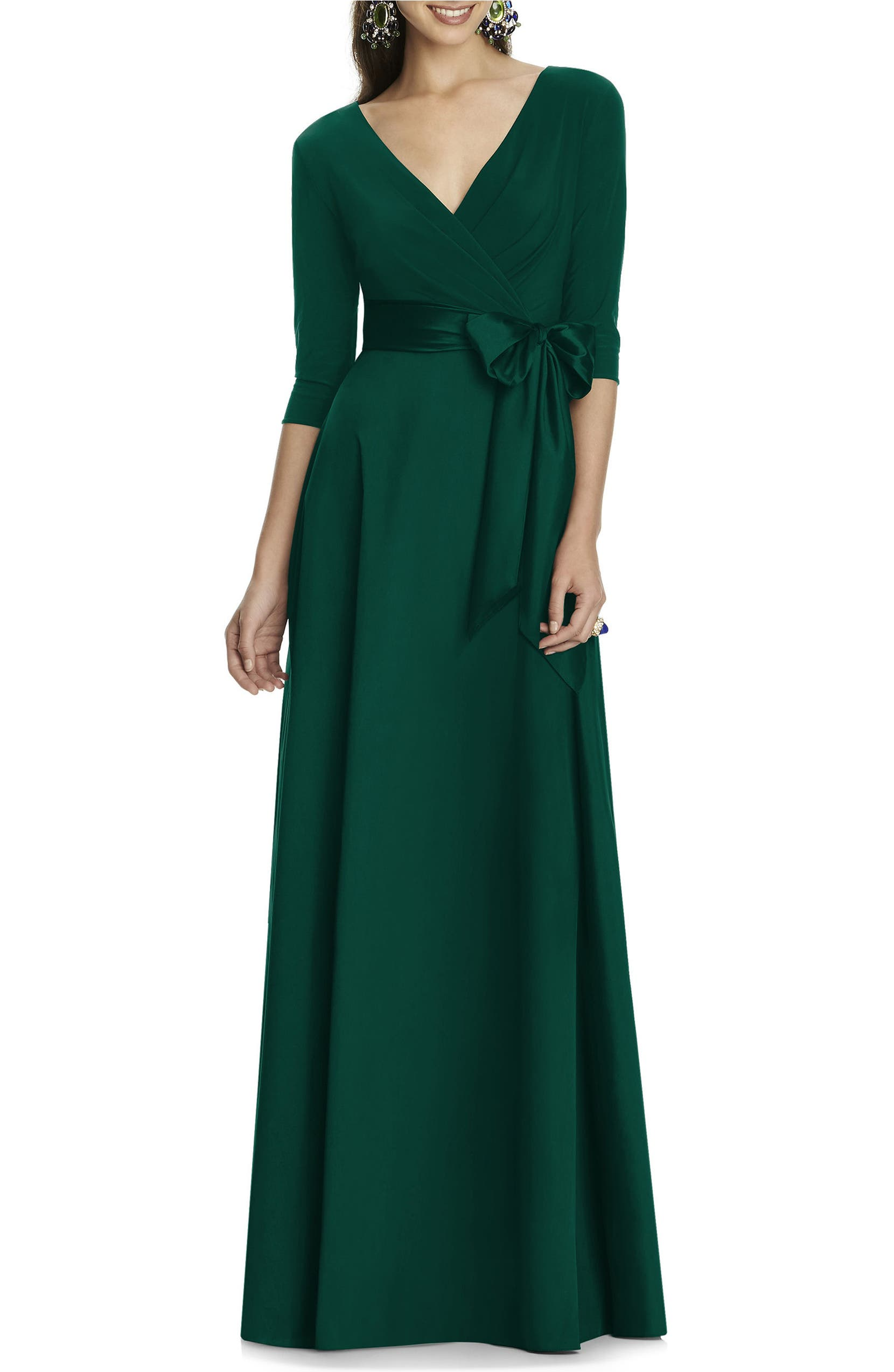 8a42e64789 Alfred Sung Jersey   Mikado A-Line Gown (Regular   Plus Size ...