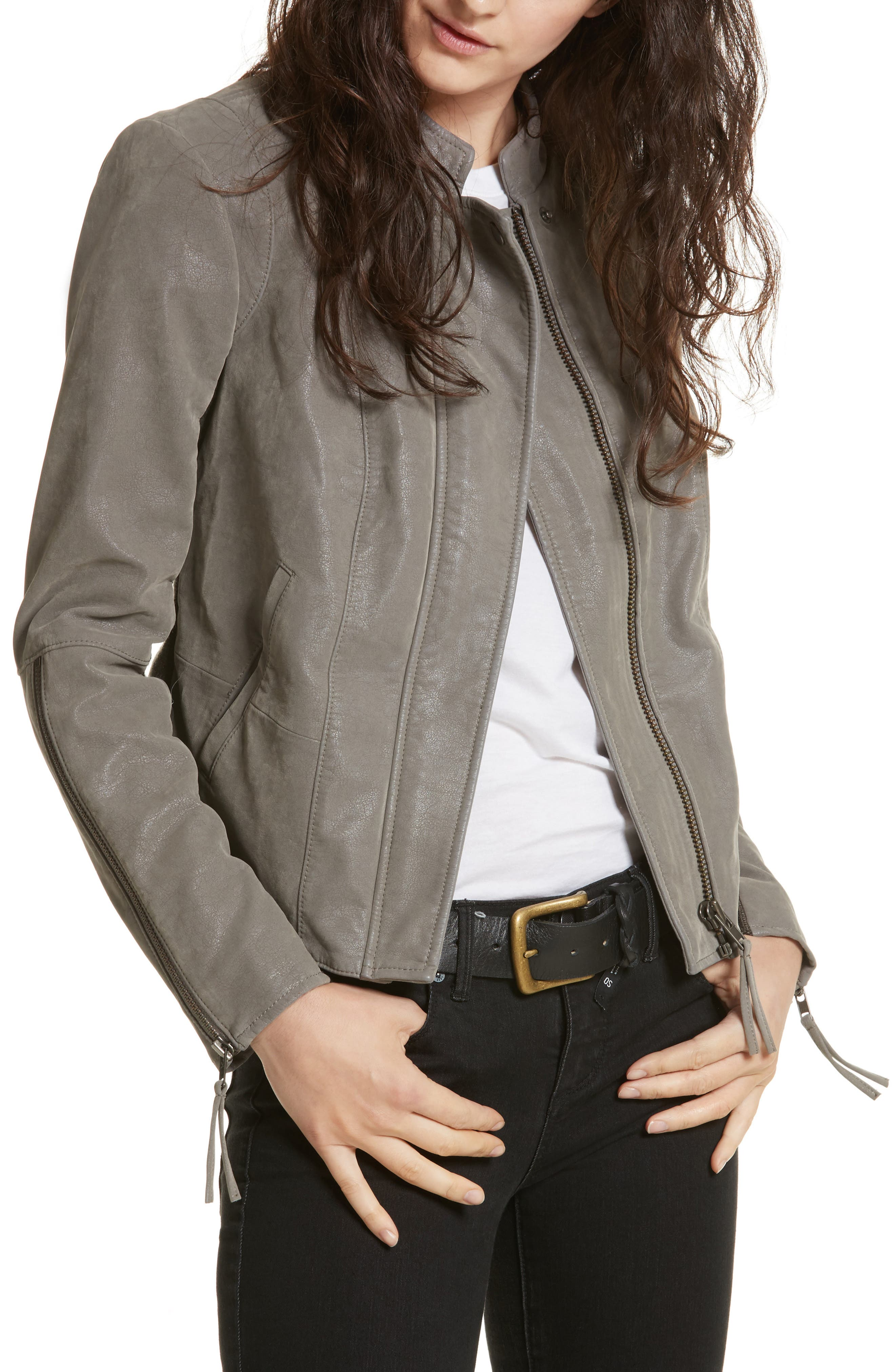 Faux Leather Jacket,                             Main thumbnail 1, color,                             035