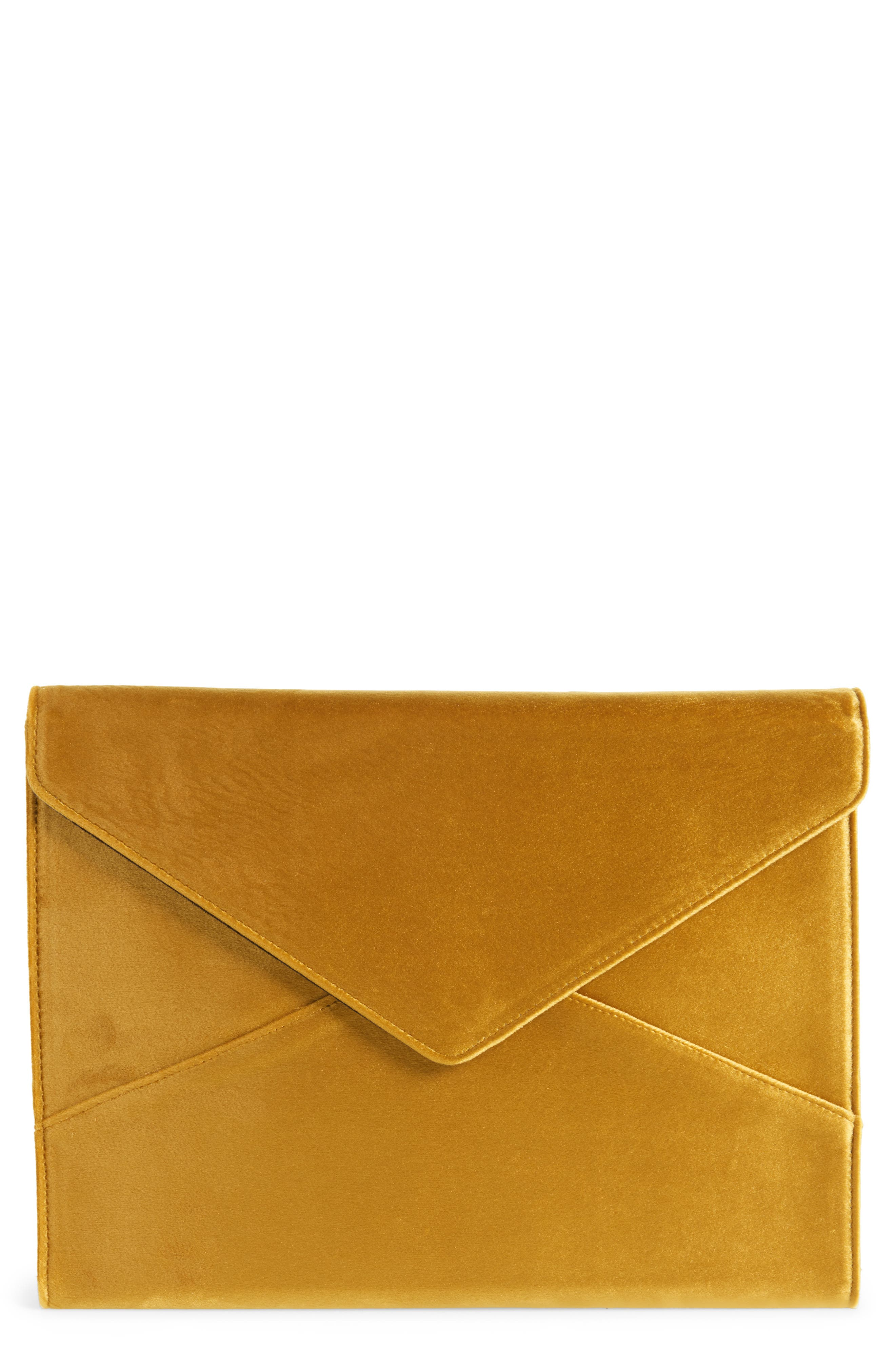 Canary Velvet Laptop Clutch,                             Main thumbnail 1, color,                             710