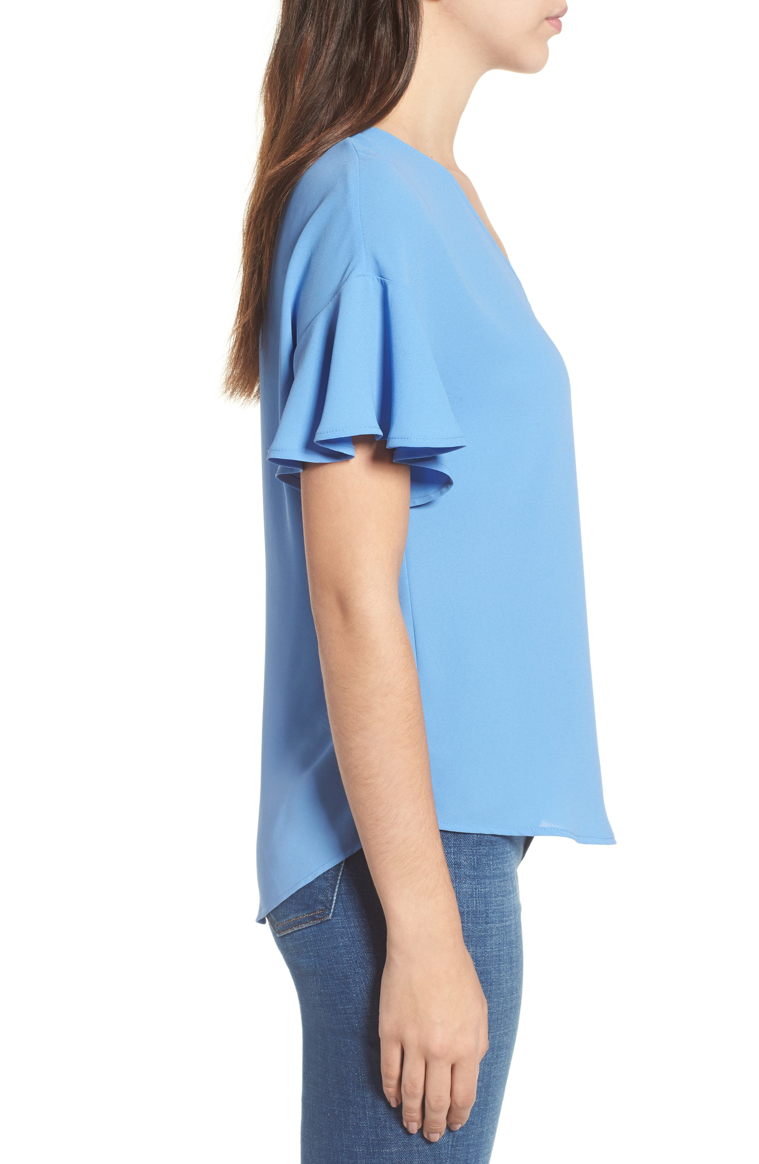 Crepe Tee,                             Alternate thumbnail 19, color,