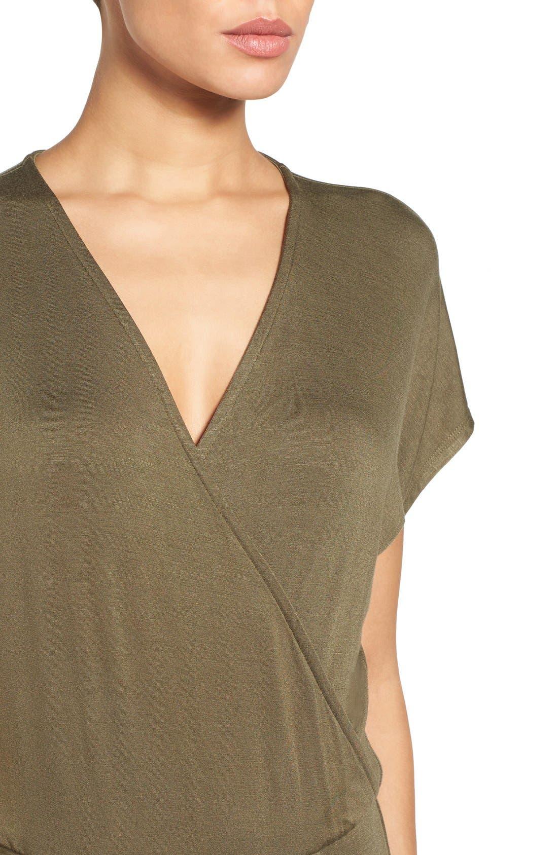Short Sleeve Wrap Top Jumpsuit,                             Alternate thumbnail 25, color,