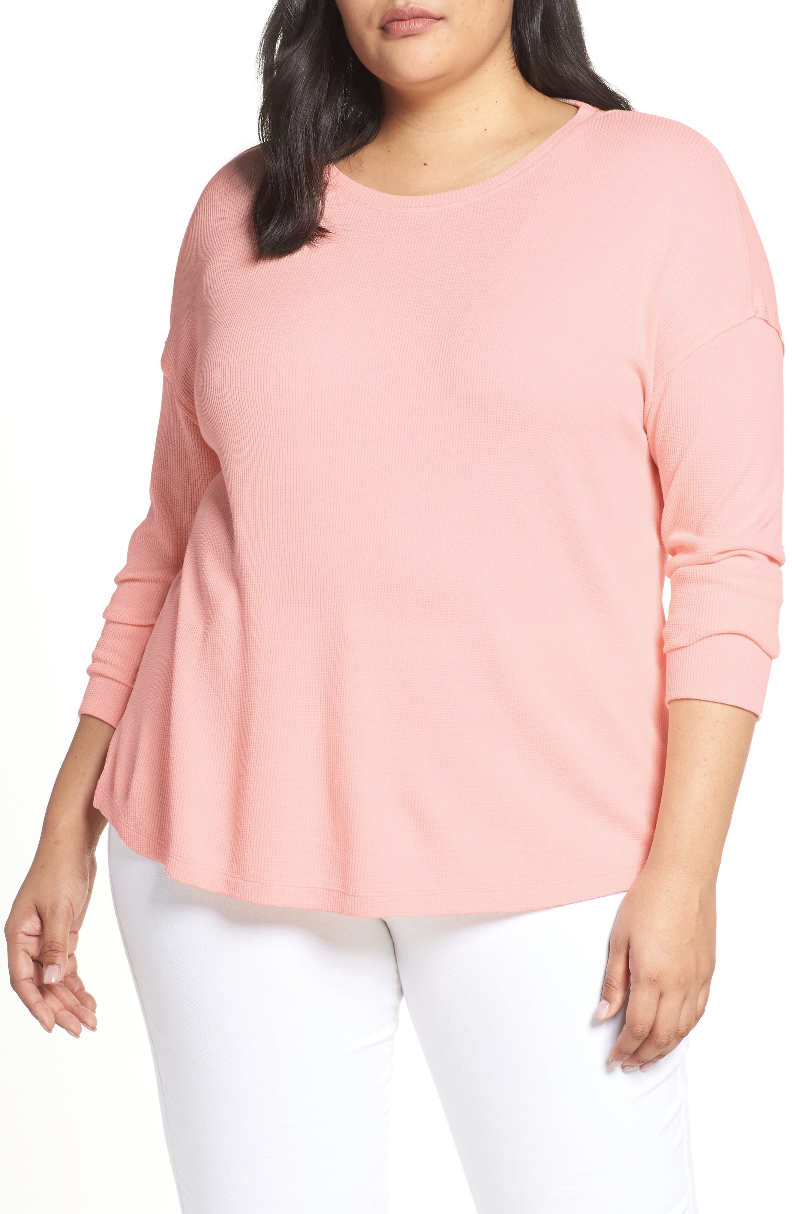 Daybreak Thermal Tee,                             Main thumbnail 1, color,                             PINK FIZZ