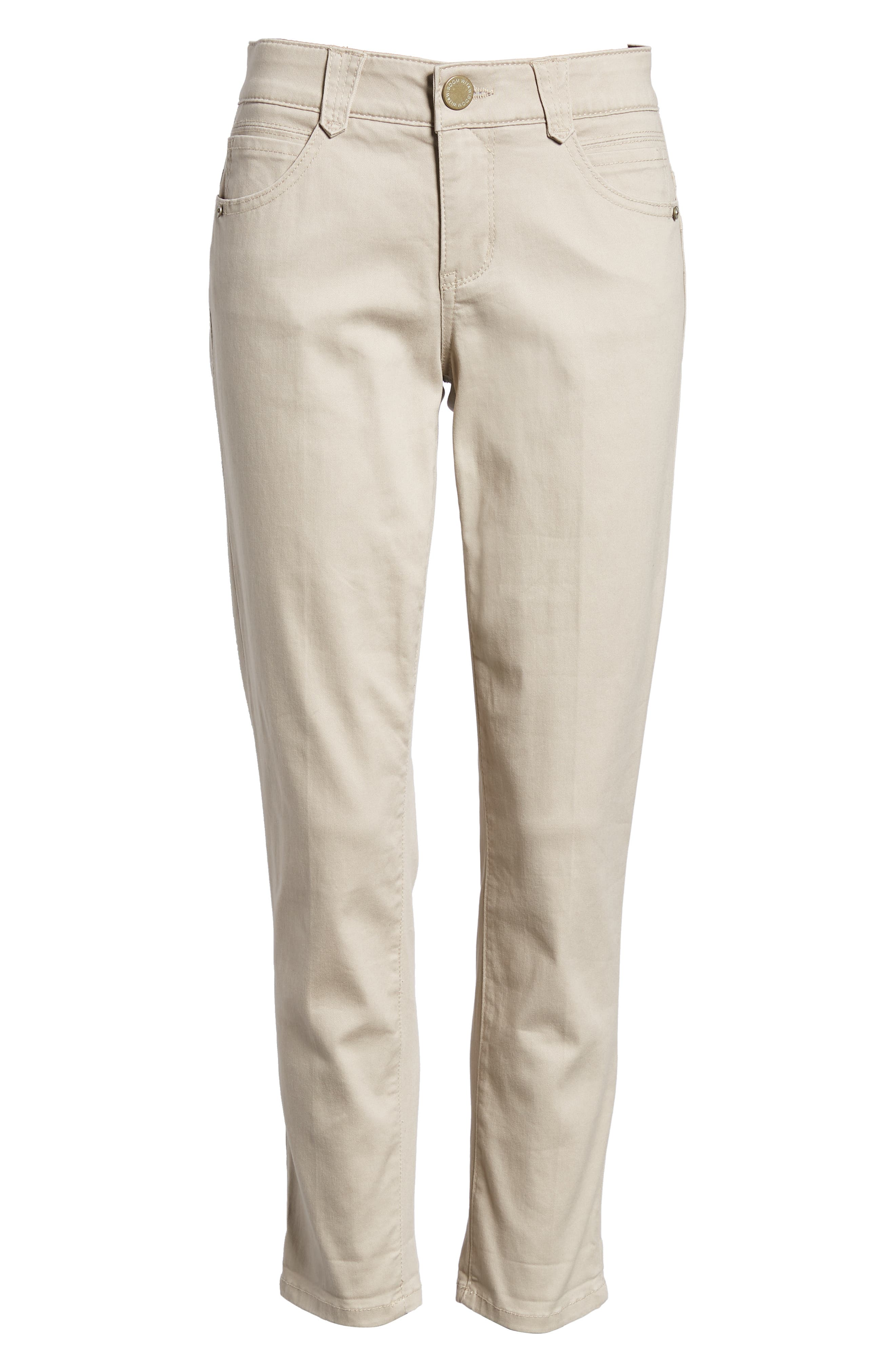 WIT & WISDOM,                             Ab-Solution Crop Skinny Pants,                             Alternate thumbnail 7, color,                             FLAX