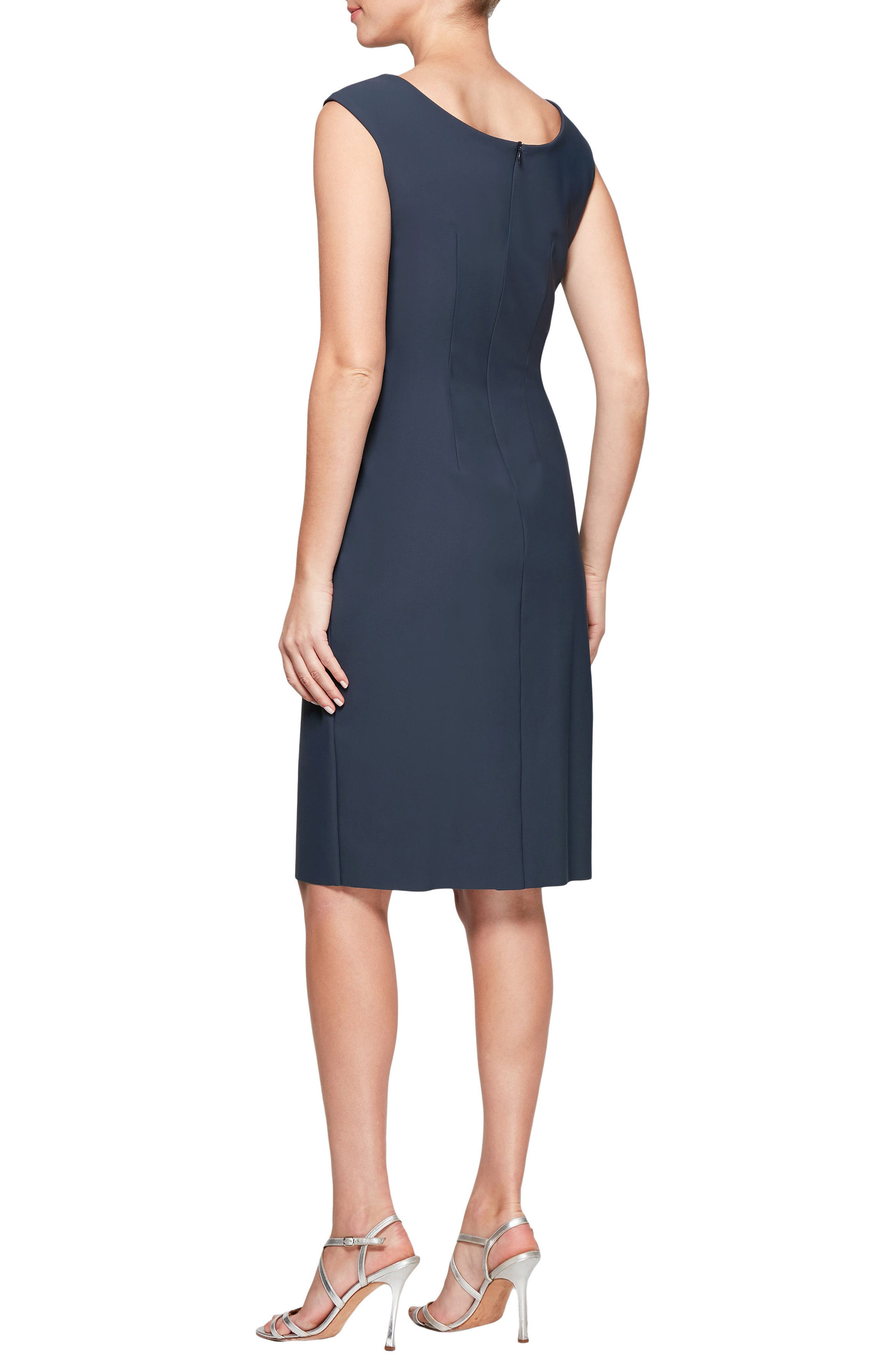 V-Neck Sheath Dress,                             Alternate thumbnail 2, color,                             021