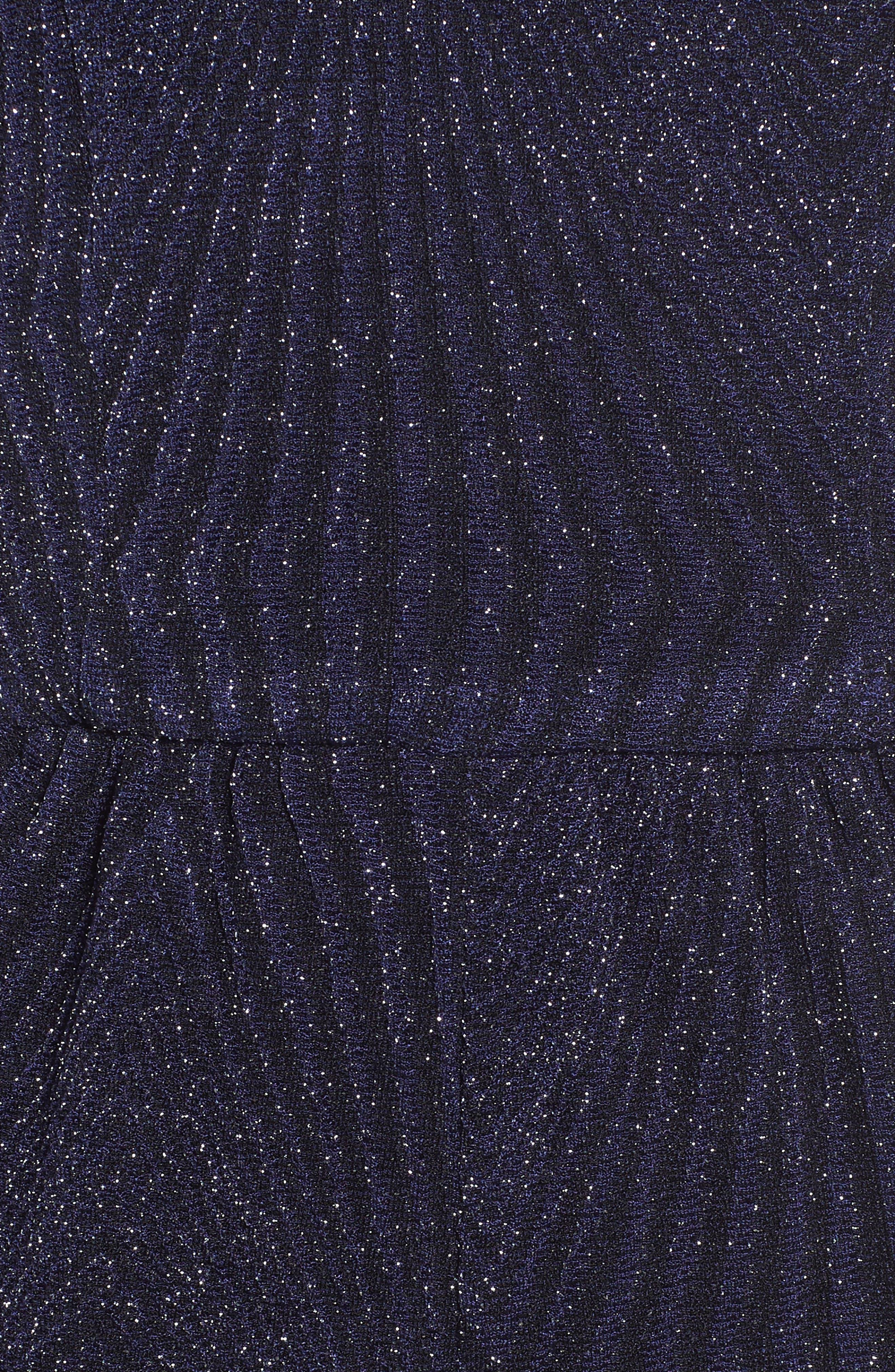 Glitter Knit Romper,                             Alternate thumbnail 6, color,                             400