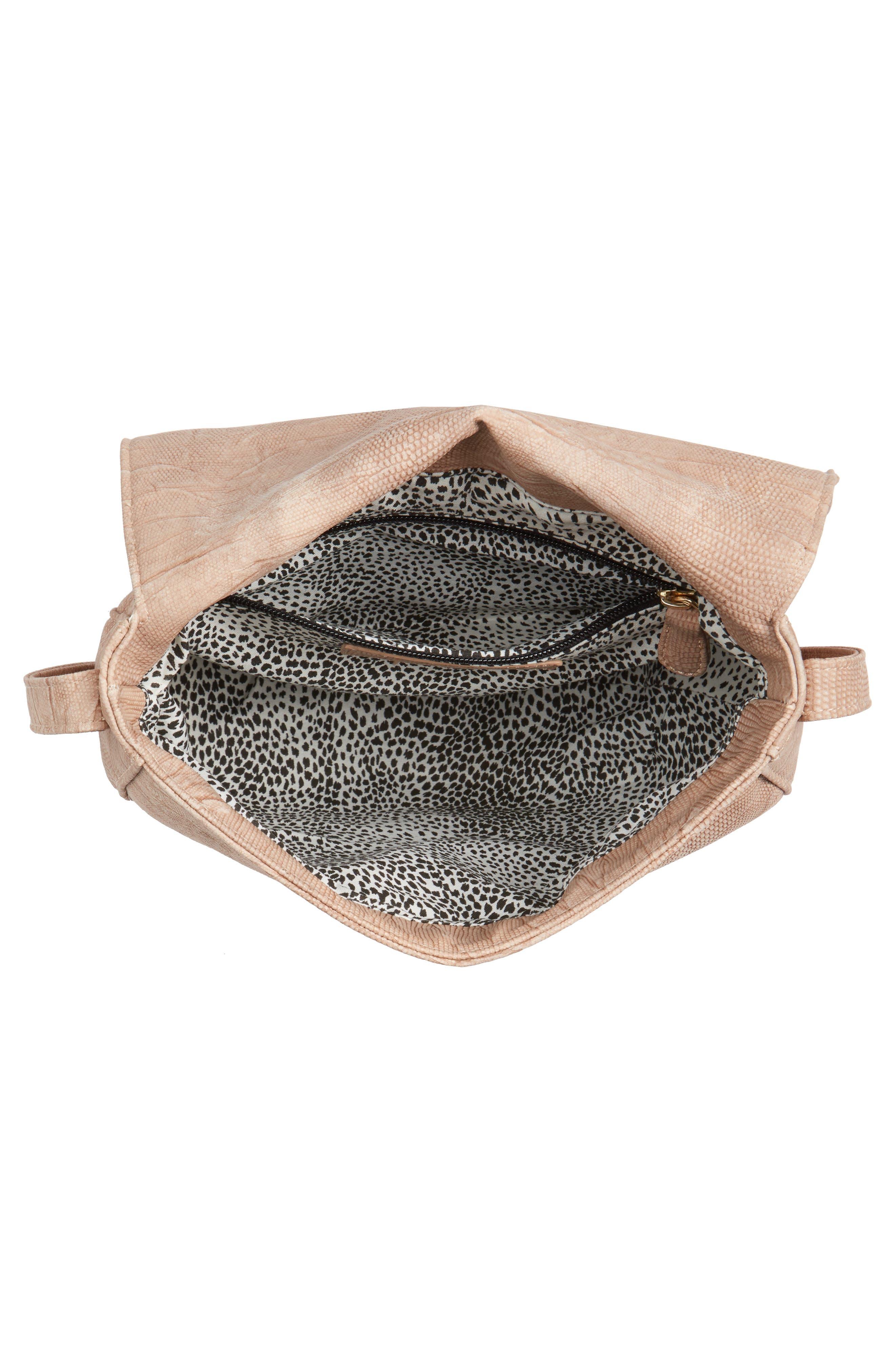 Livvy Faux Leather Crossbody Saddle Bag,                             Alternate thumbnail 11, color,