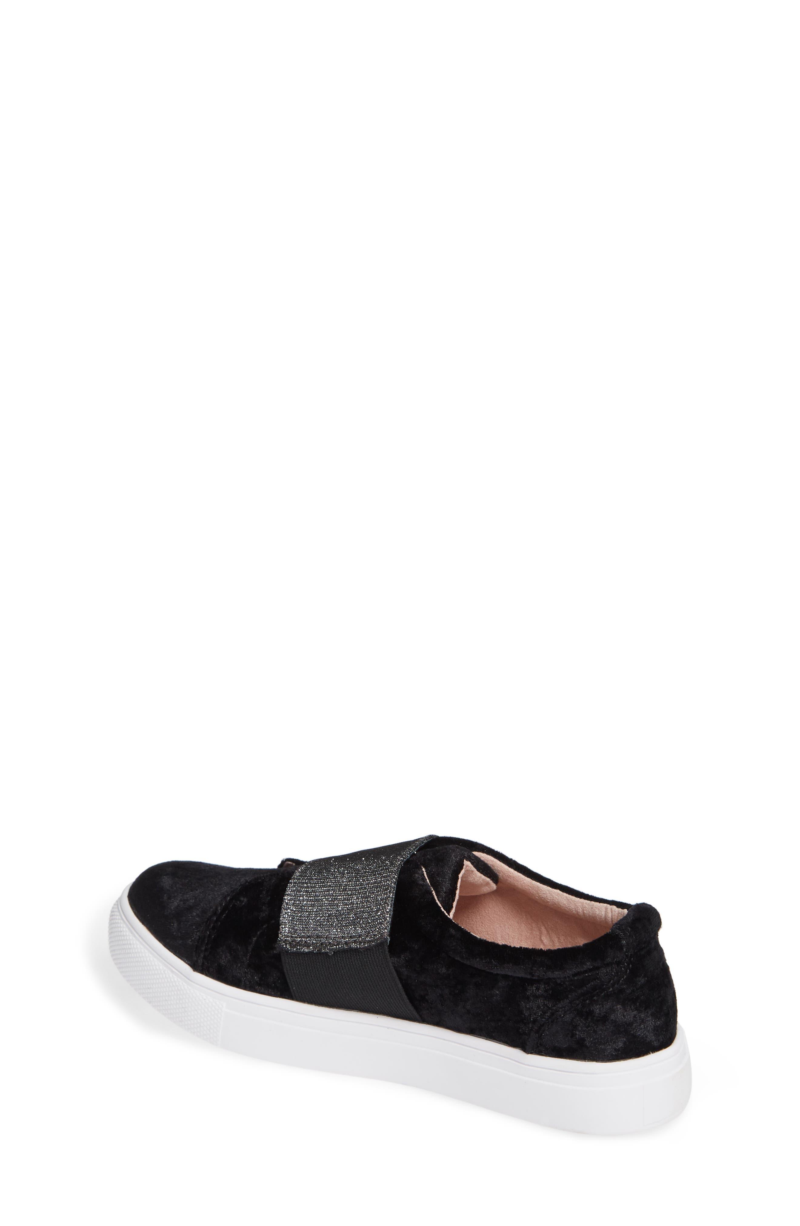 Sparkle Slip-On Sneaker,                             Alternate thumbnail 2, color,                             BLACK CRUSHED VELVET
