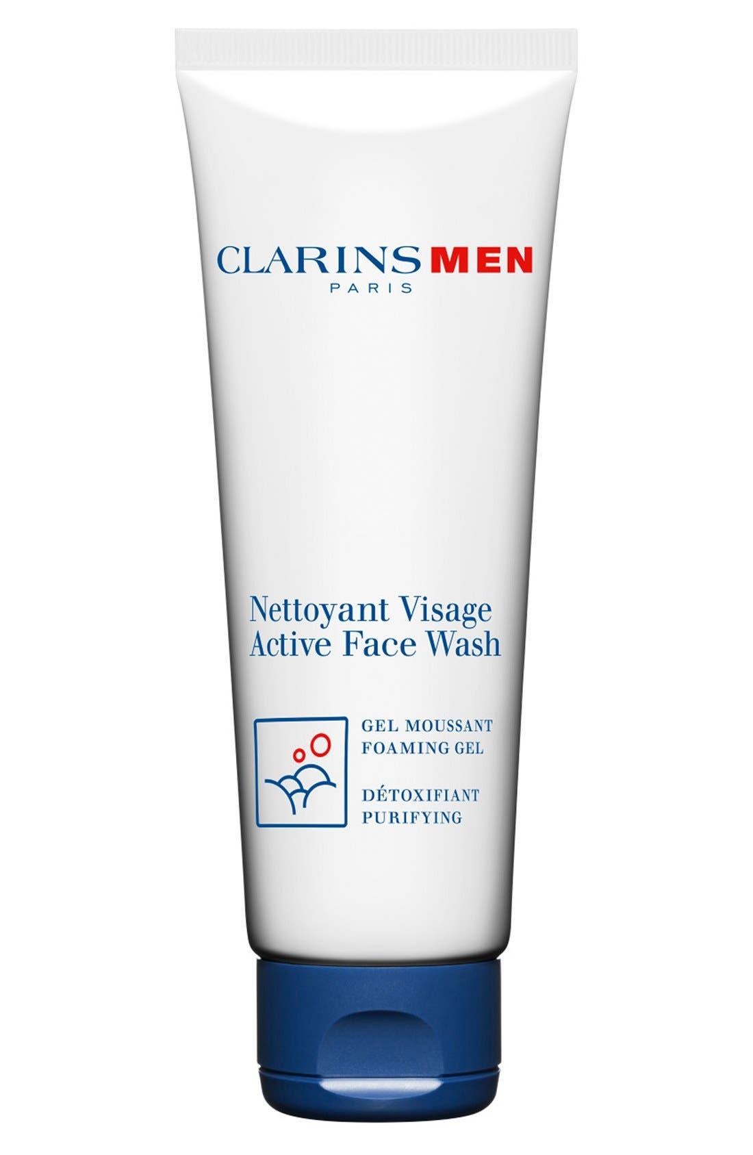 Active Men's Face Wash,                             Main thumbnail 1, color,                             000