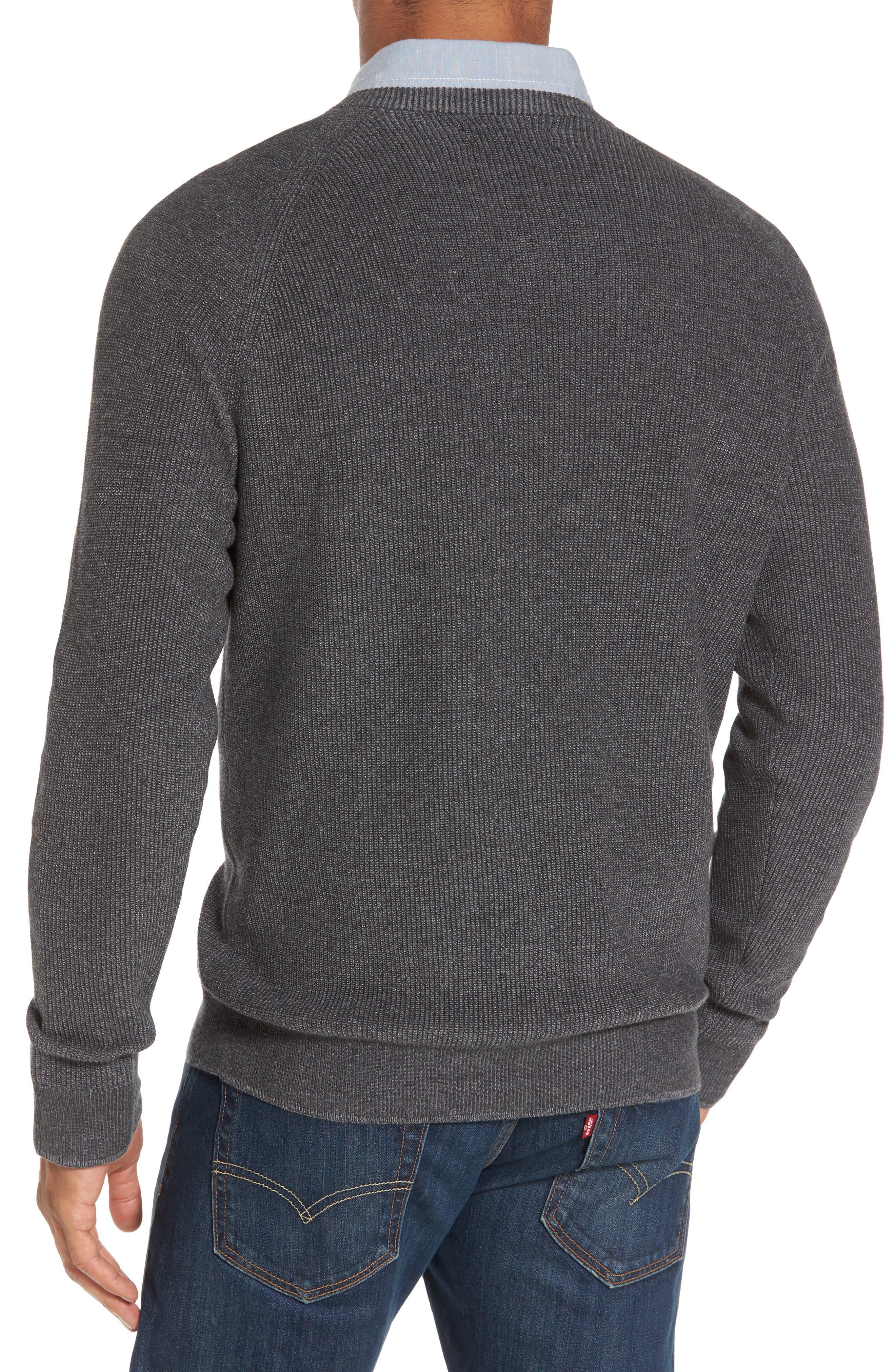 Supima<sup>®</sup> Cotton V-Neck Sweater,                             Alternate thumbnail 2, color,                             021
