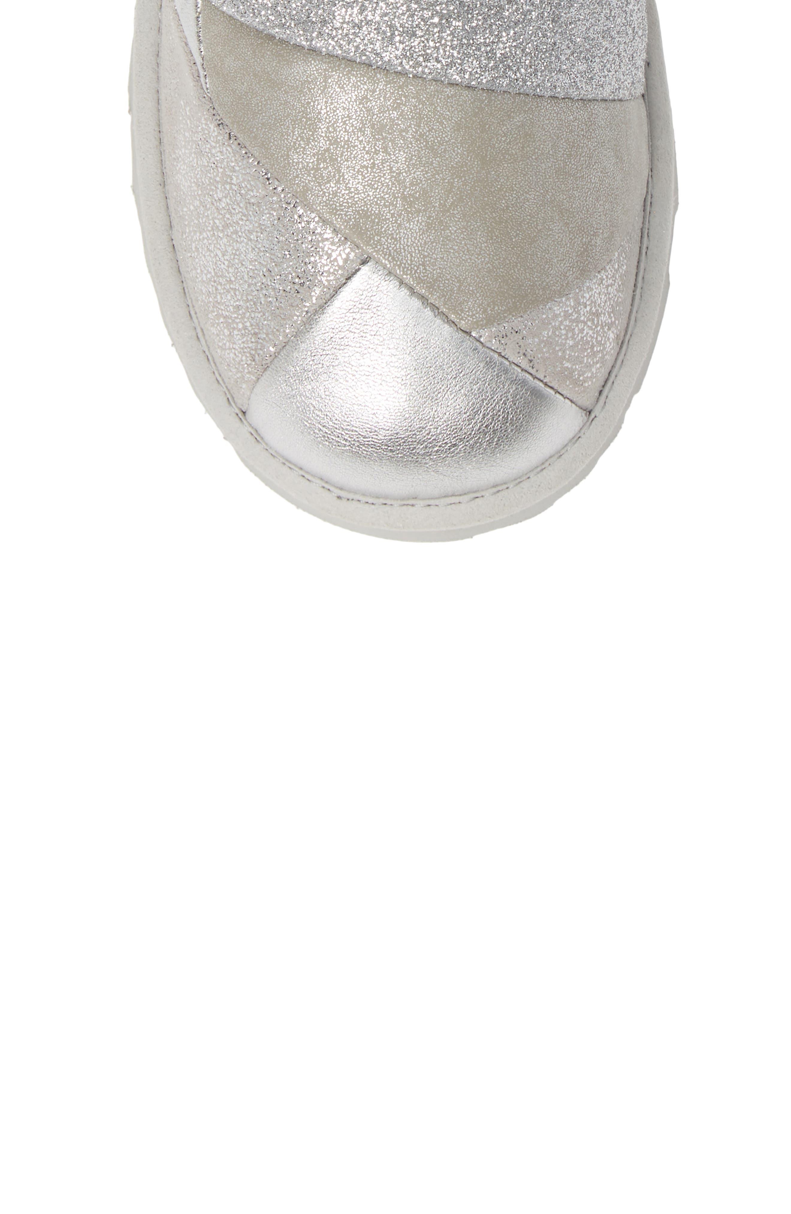 Classic Short II Metallic Patchwork Boot,                             Alternate thumbnail 5, color,                             SILVER