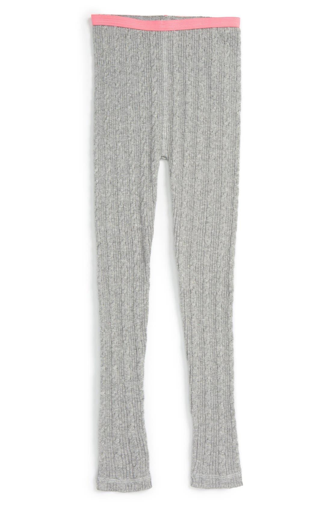 Cable Knit Sweater Leggings,                             Main thumbnail 1, color,                             030