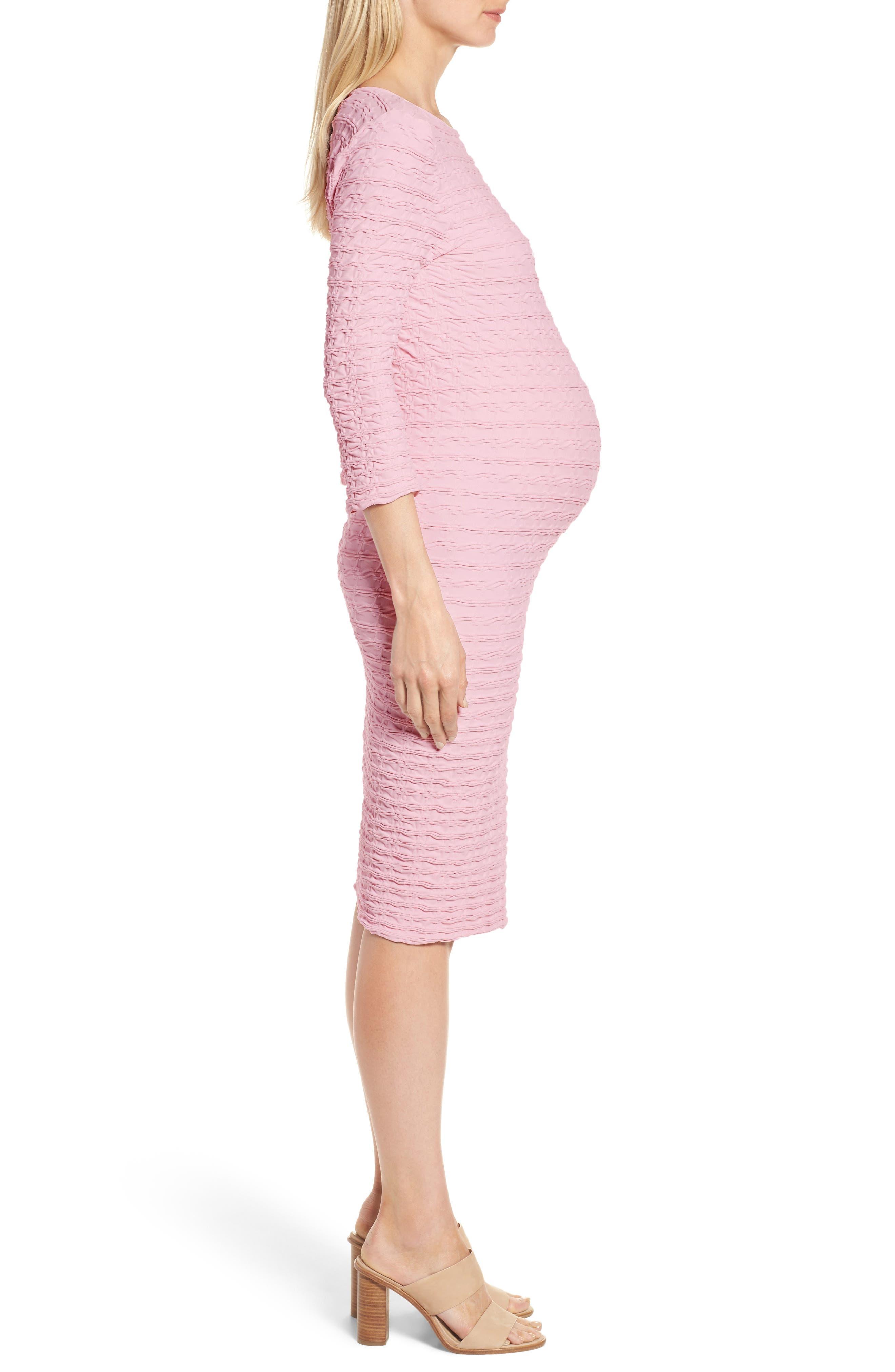 'Crinkle' Maternity Midi Dress,                             Alternate thumbnail 10, color,