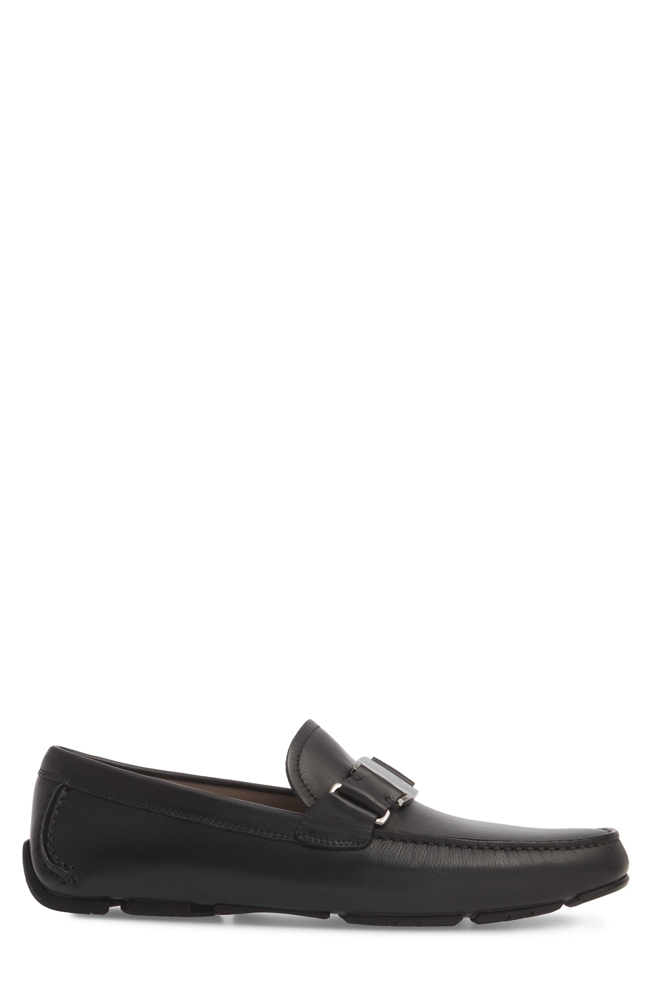 Sardegna Driving Shoe,                             Alternate thumbnail 3, color,                             BLACK LEATHER