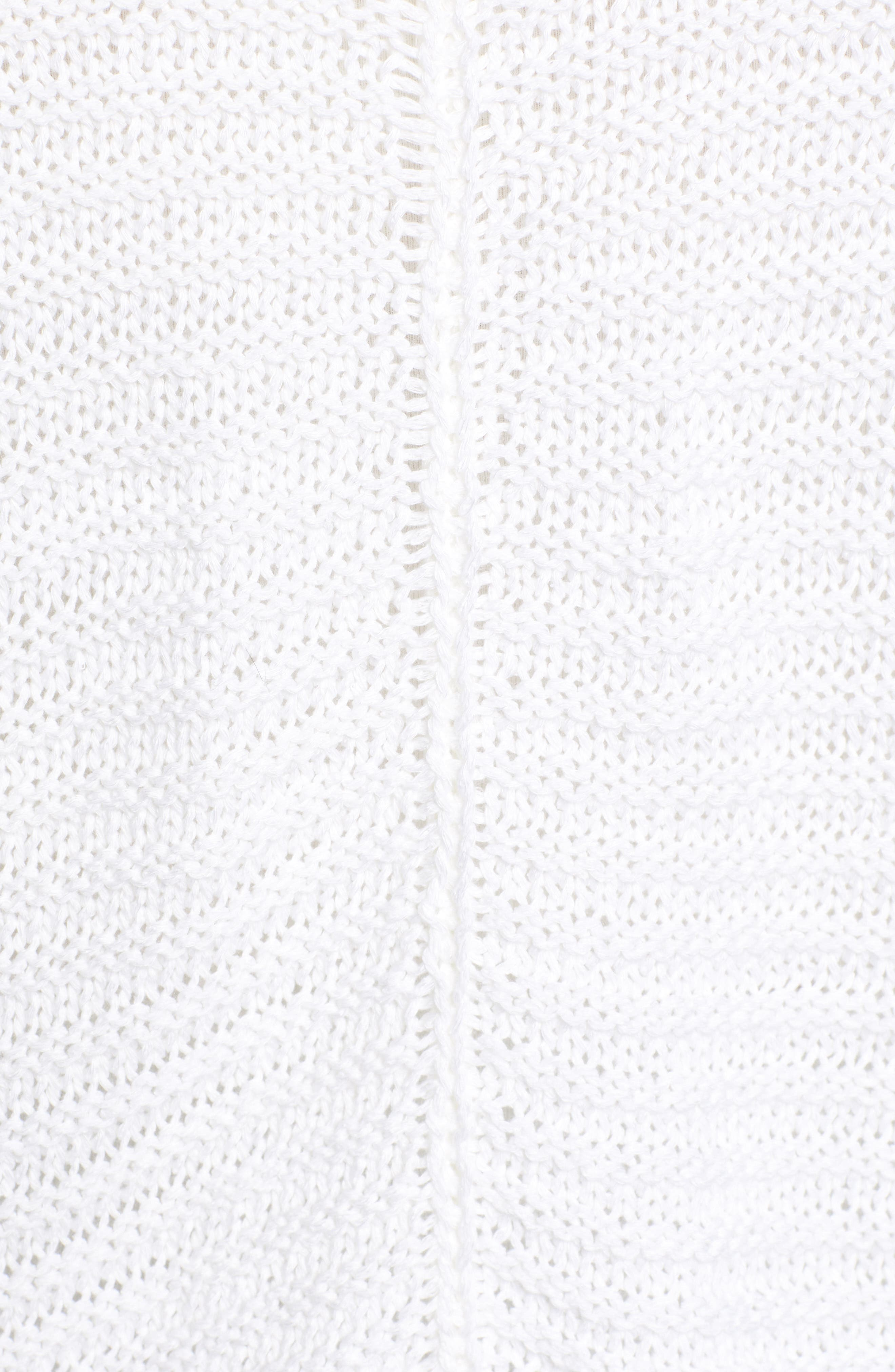Cuffed Sleeve Sweater,                             Alternate thumbnail 5, color,                             100