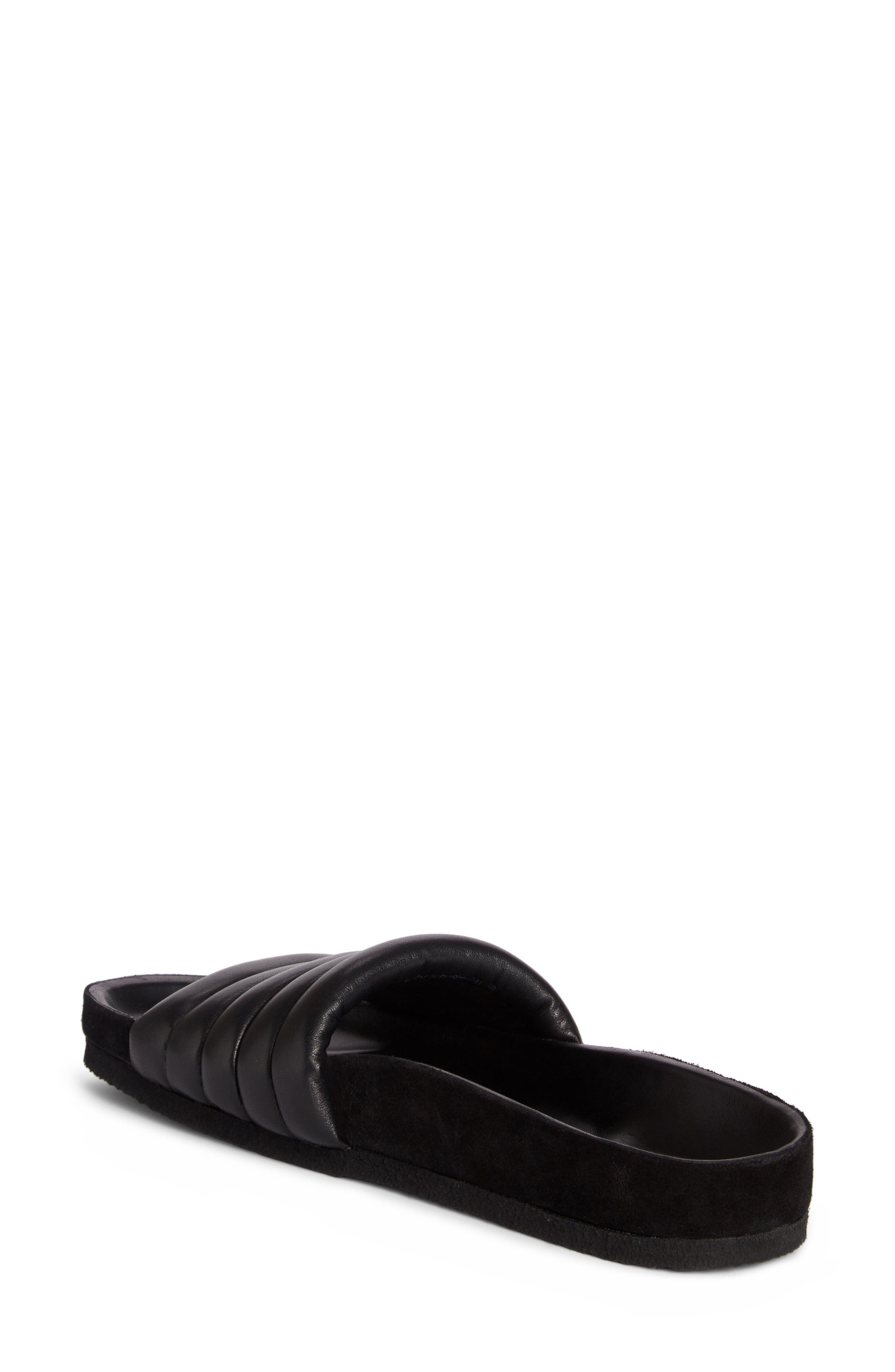 Hellea Slide Sandal,                             Alternate thumbnail 2, color,                             BLACK