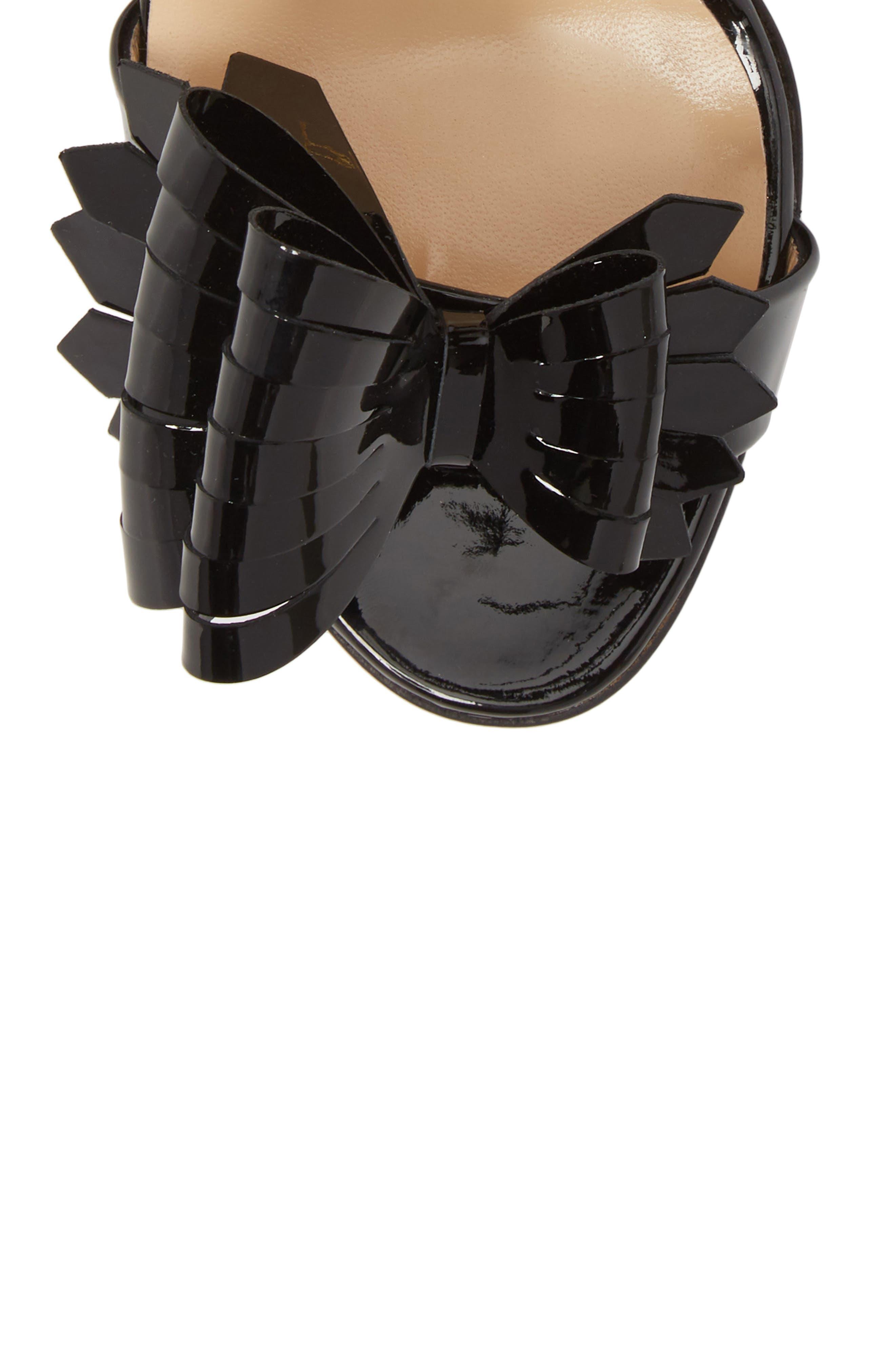 Miss Valois Bow Ankle Strap Sandal,                             Alternate thumbnail 9, color,