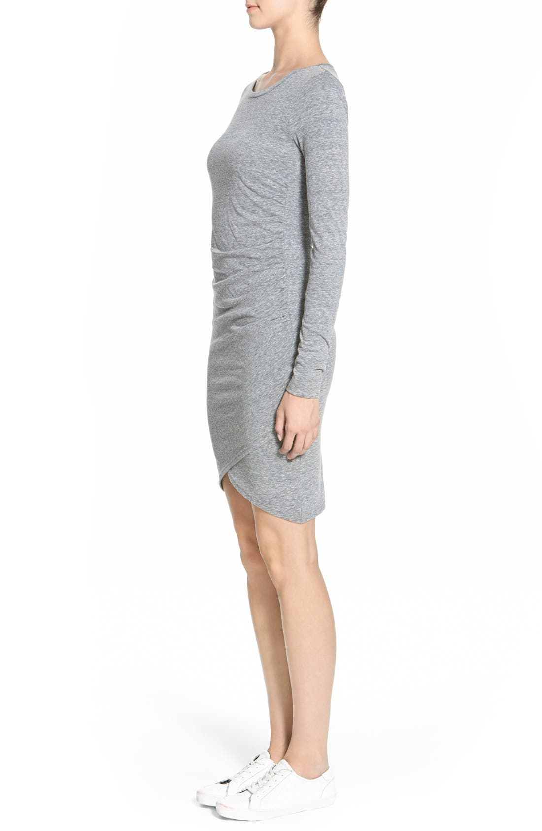 Ruched Long Sleeve Dress,                             Alternate thumbnail 111, color,