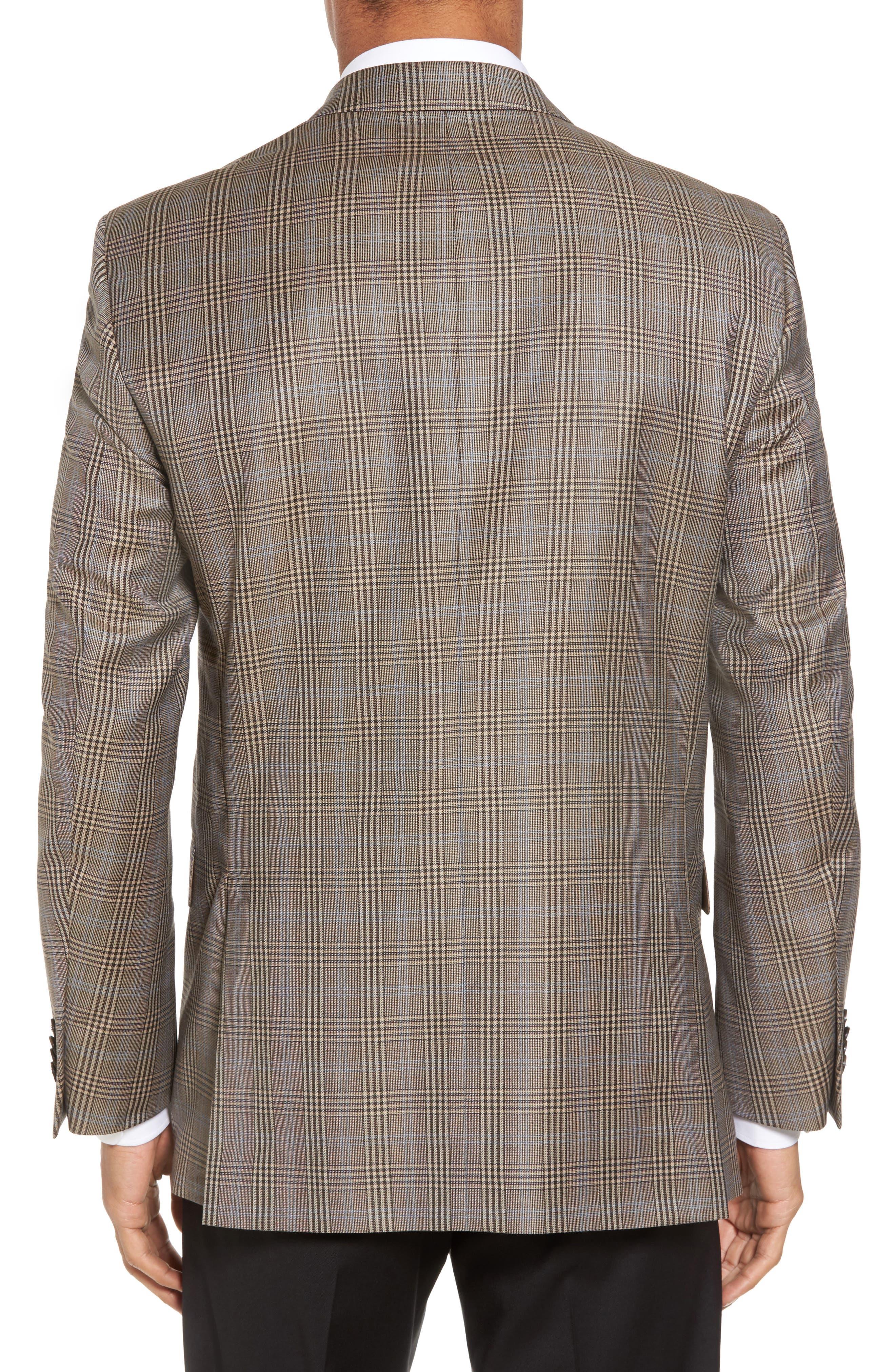 Classic Fit Plaid Wool Sport Coat,                             Alternate thumbnail 2, color,                             210