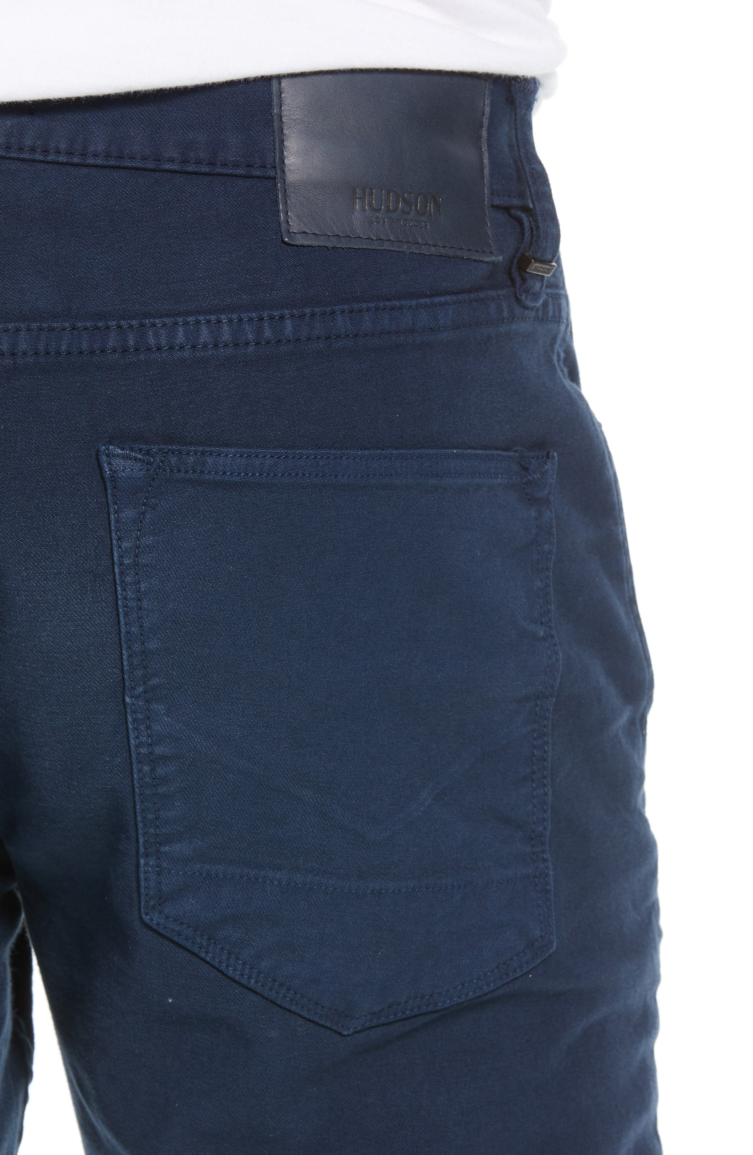 Hudson Axl Skinny Fit Jeans,                             Alternate thumbnail 4, color,                             SAILOR BLUE