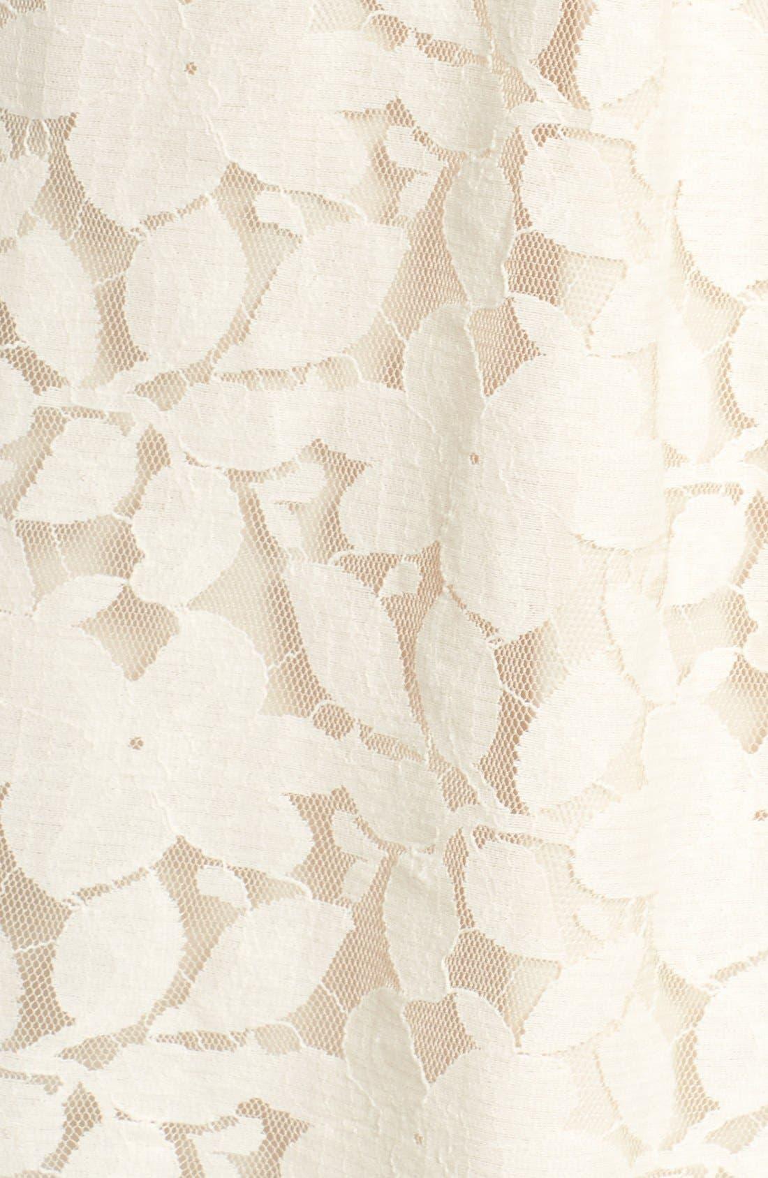 Floral Lace Shift Dress,                             Alternate thumbnail 2, color,                             909