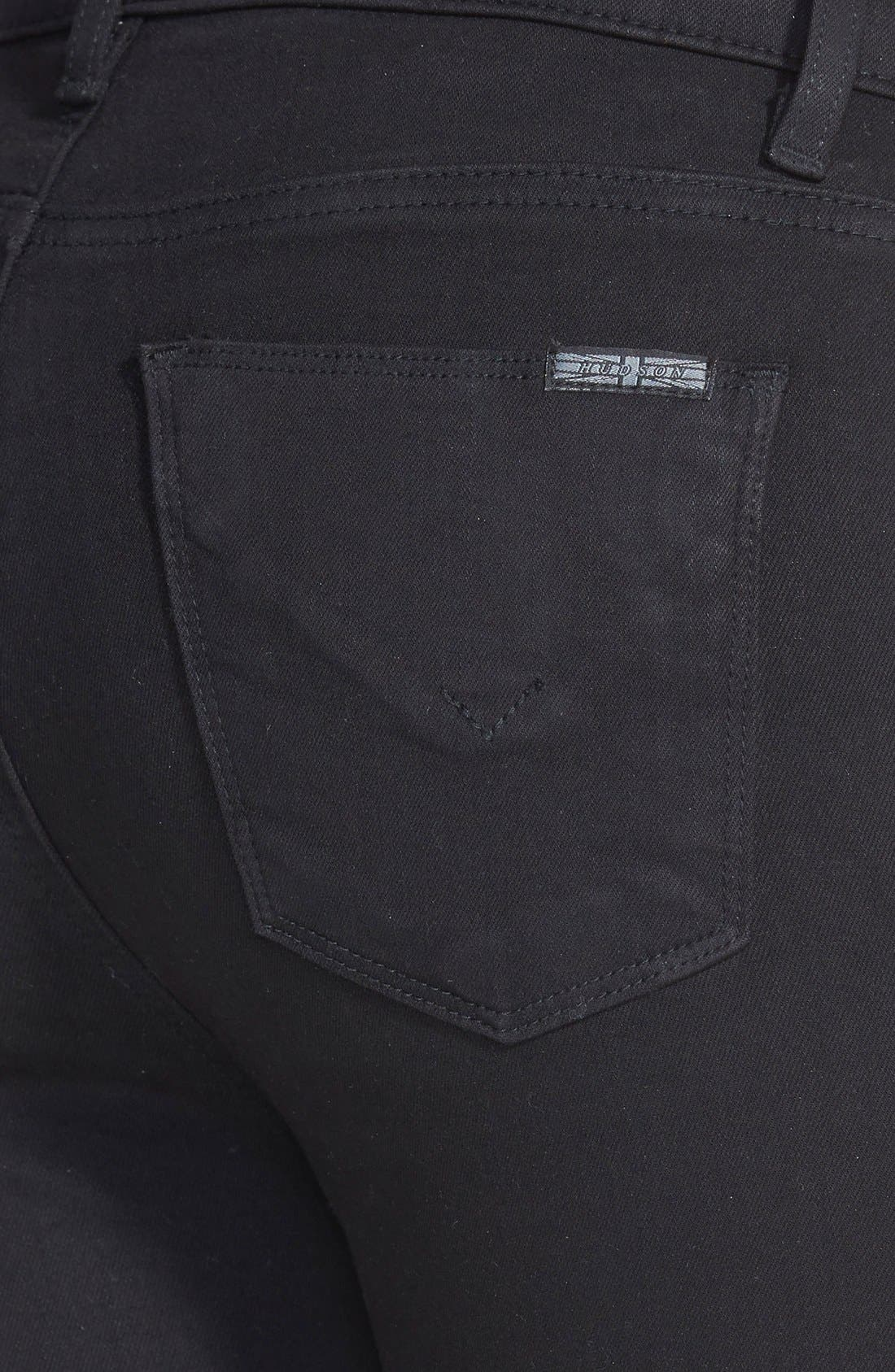 Barbara High Waist Skinny Jeans,                             Alternate thumbnail 4, color,                             001