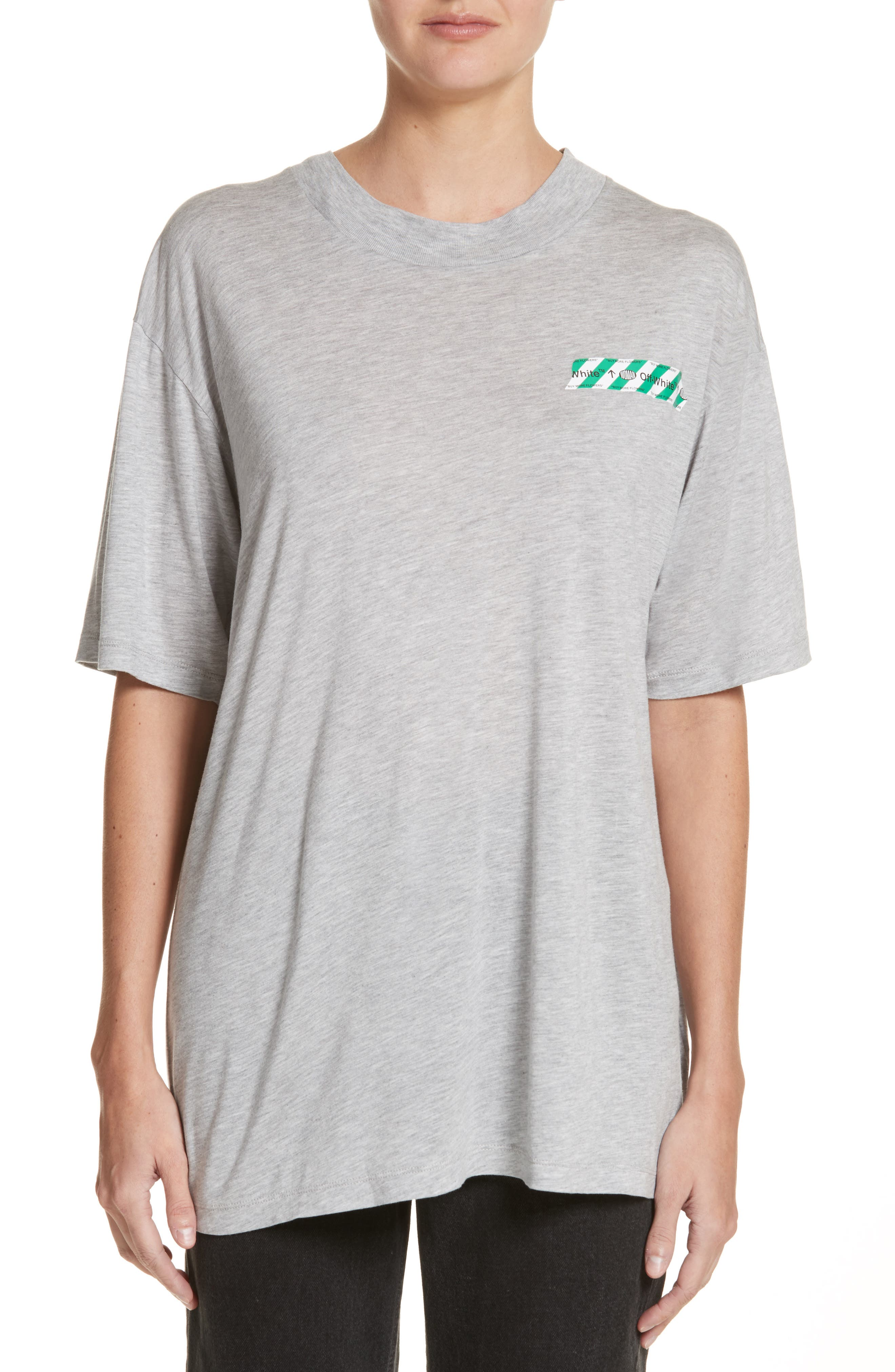 Woman Tape New over Tee,                             Main thumbnail 1, color,                             020