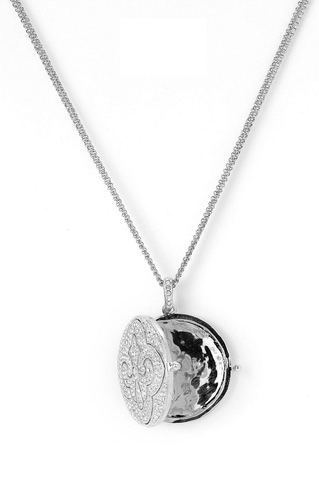 NADRI,                             Round Locket Necklace,                             Alternate thumbnail 3, color,                             040