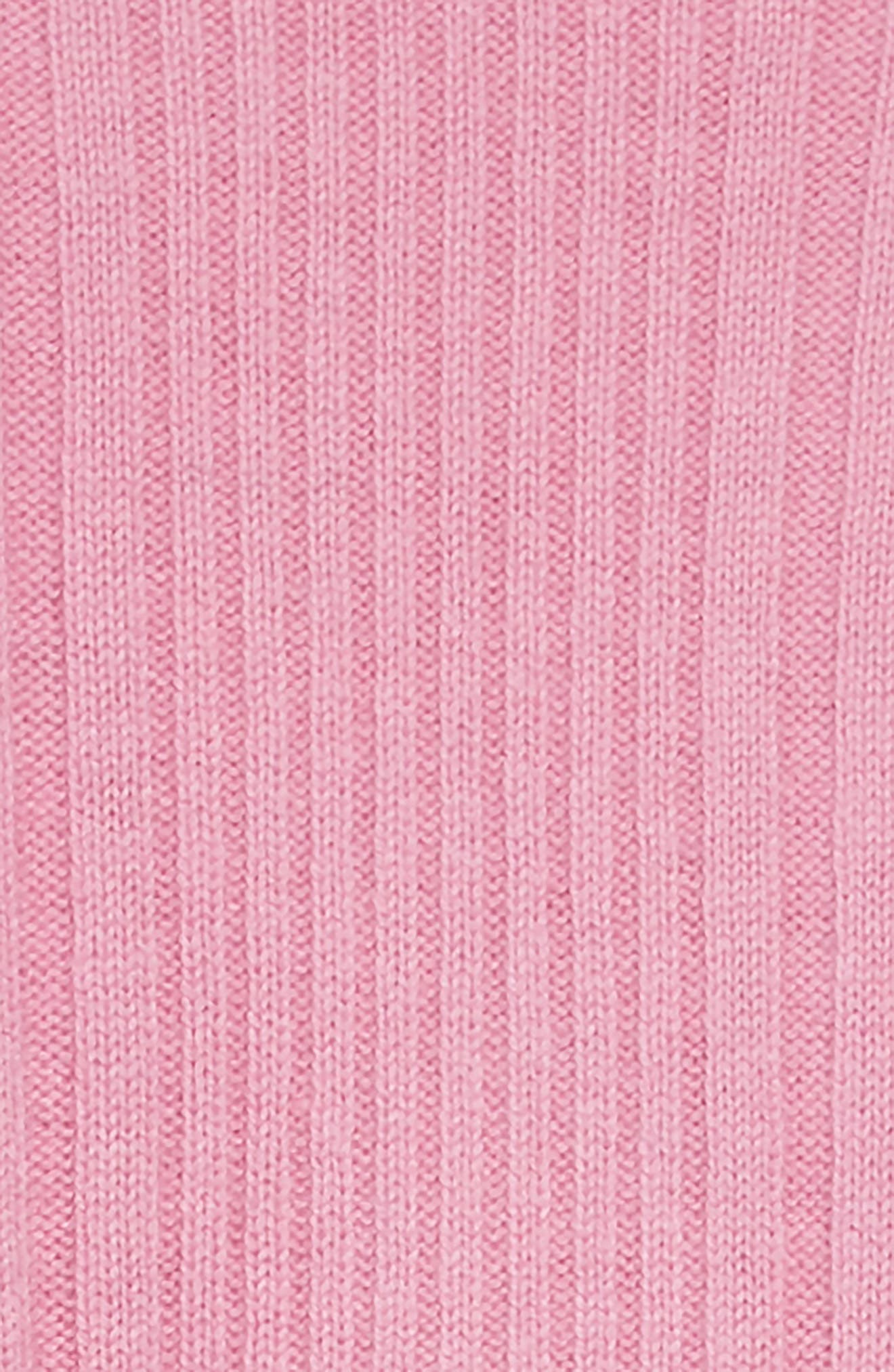 Kids Cathina Check Detail Wool & Cashmere Sweater Dress,                             Alternate thumbnail 3, color,                             ROSE PINK