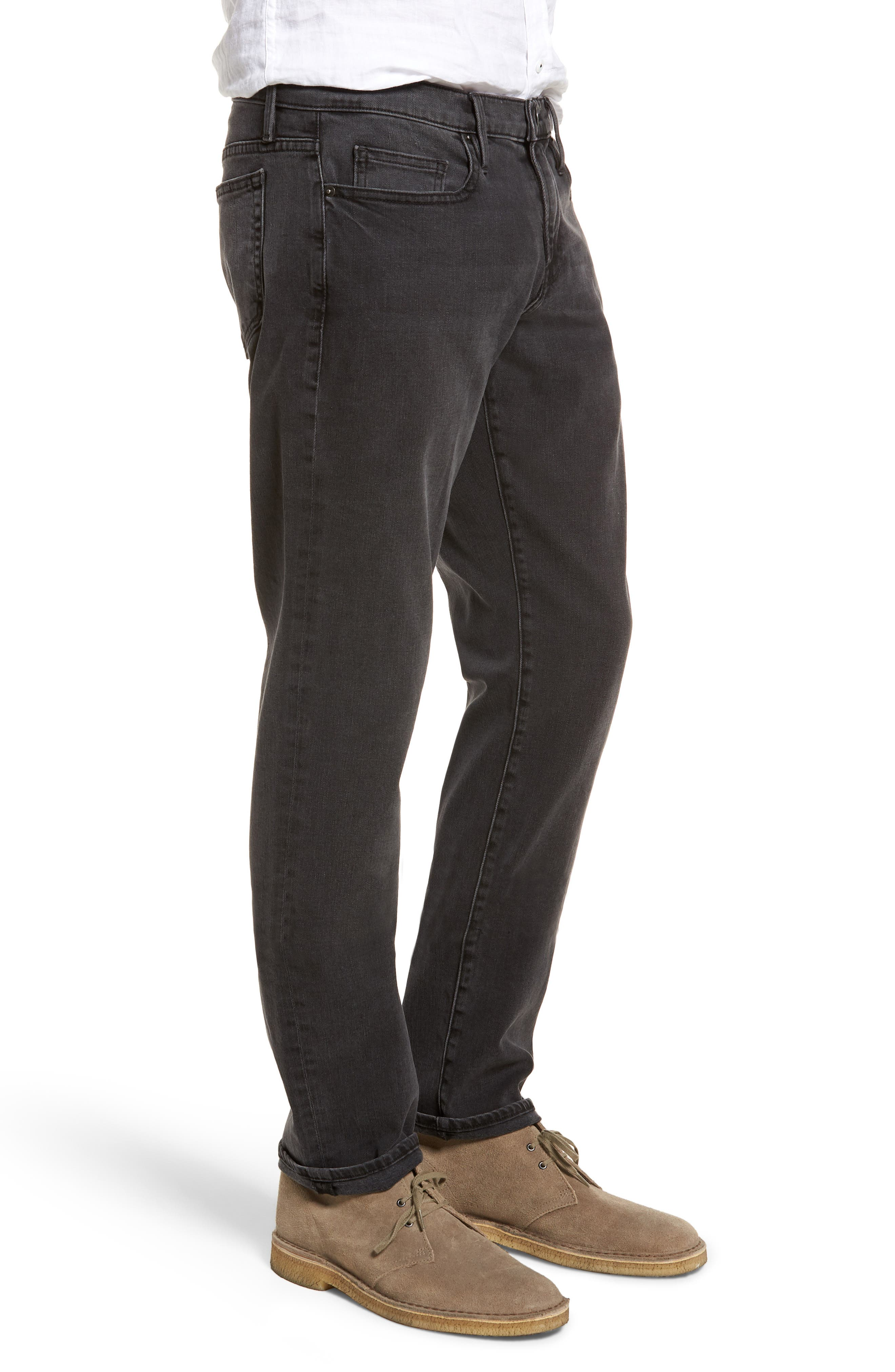 L'Homme Straight Leg Jeans,                             Alternate thumbnail 3, color,                             FADE TO GREY
