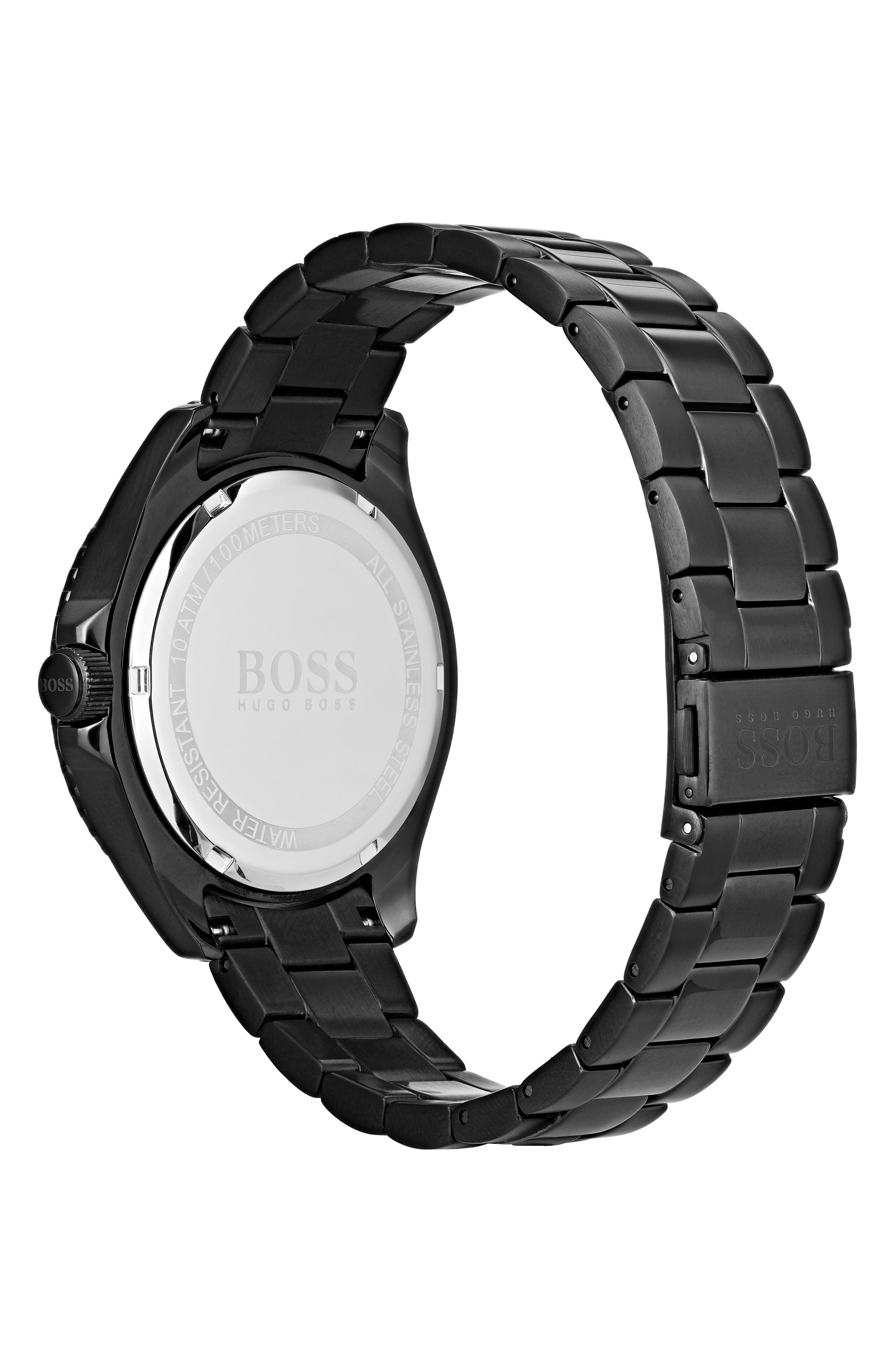 Ocean Bracelet Watch, 42mm,                             Alternate thumbnail 2, color,                             NAVY/ BLACK