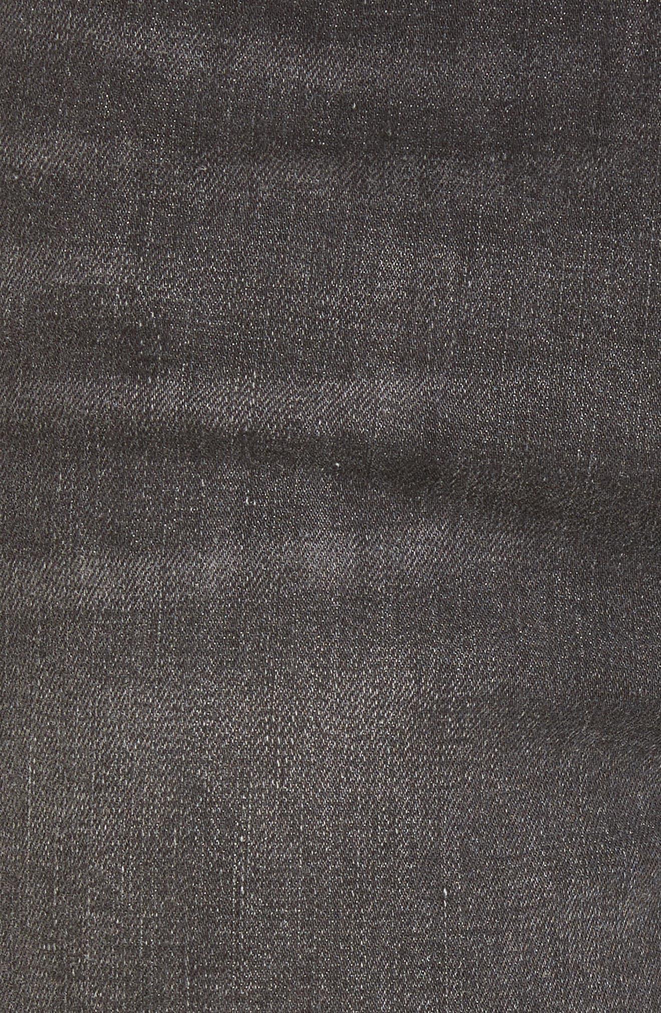 Ripped Release Hem Skinny Jeans,                             Alternate thumbnail 6, color,                             021