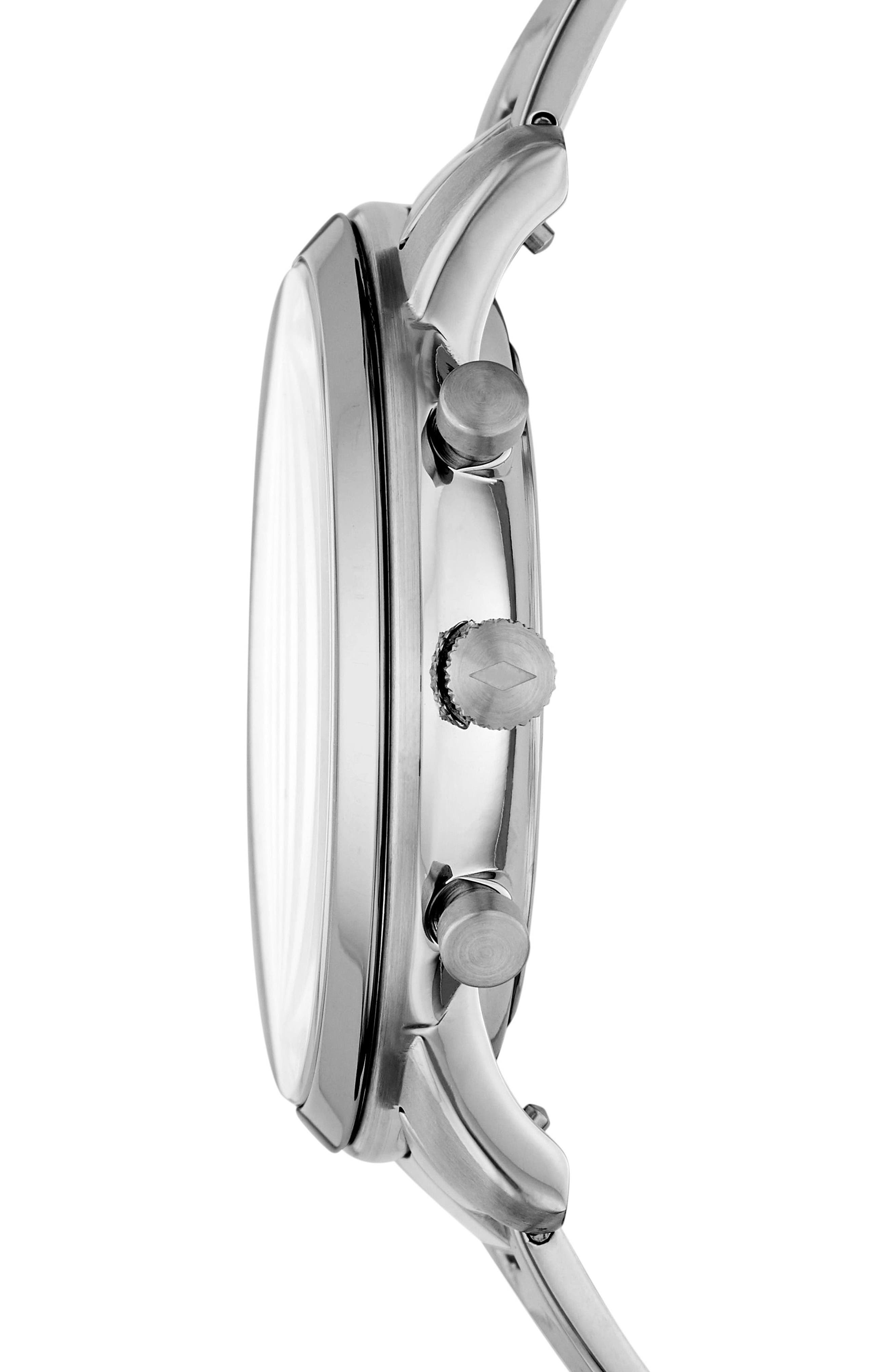 Neutra Chronograph Bracelet Watch, 44mm,                             Alternate thumbnail 2, color,                             SILVER/ WHITE/ SILVER