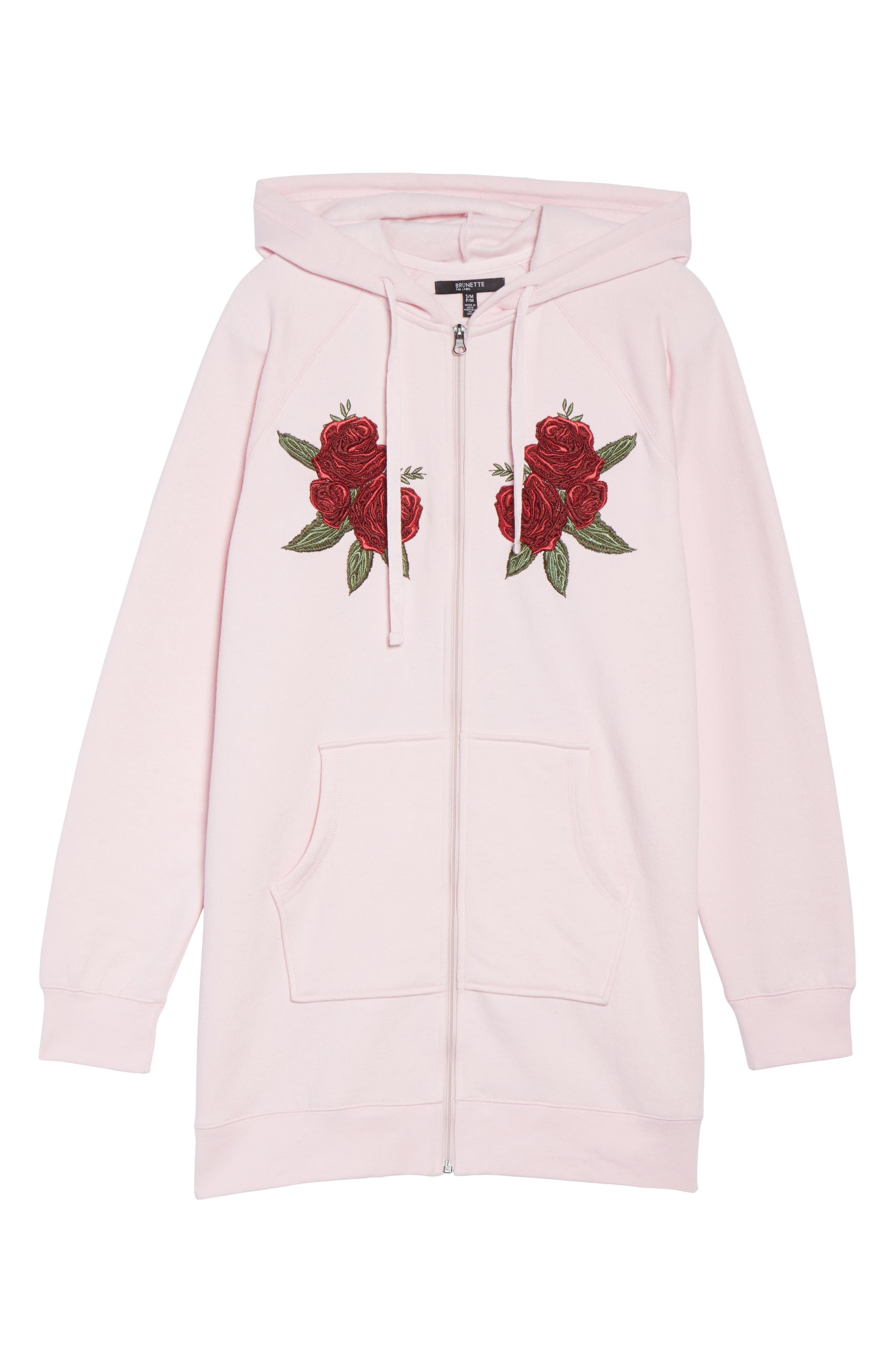 Brunette Embroidered Zip Hoodie,                             Alternate thumbnail 6, color,                             650