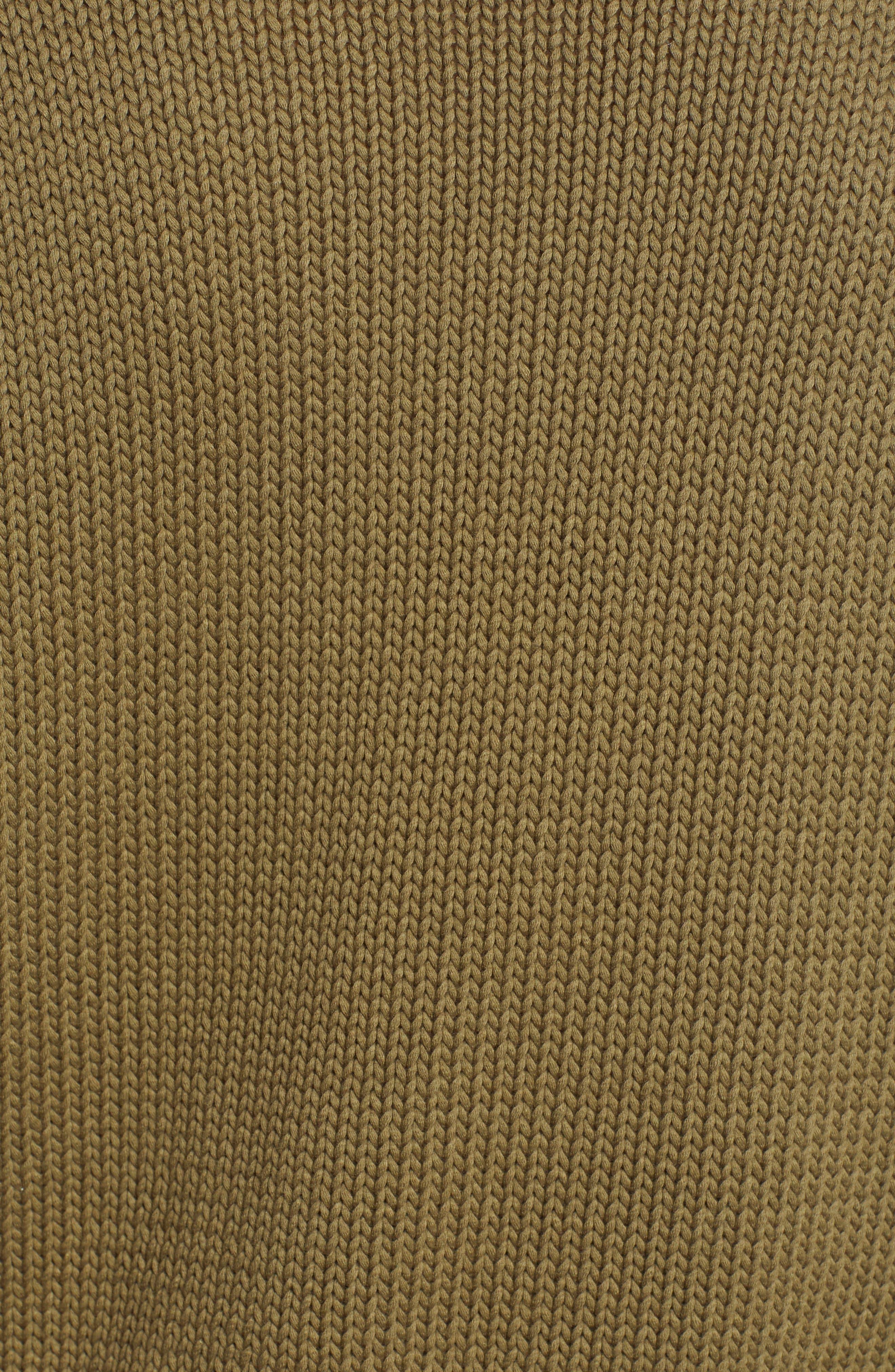 V-Neck Sweater,                             Alternate thumbnail 5, color,                             OLIVE BURNT