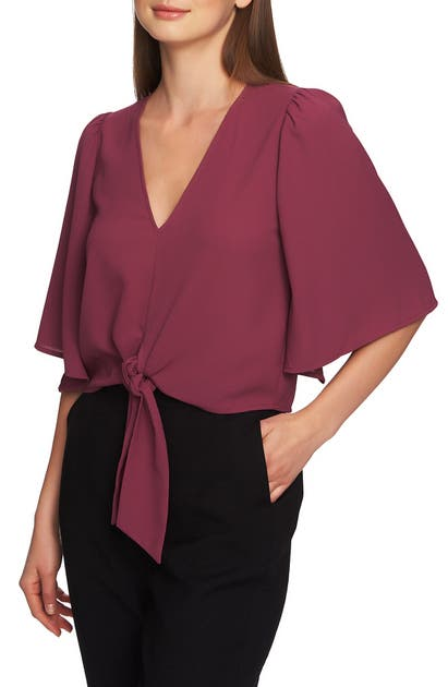 1.state Tops TIE FRONT BLOUSE
