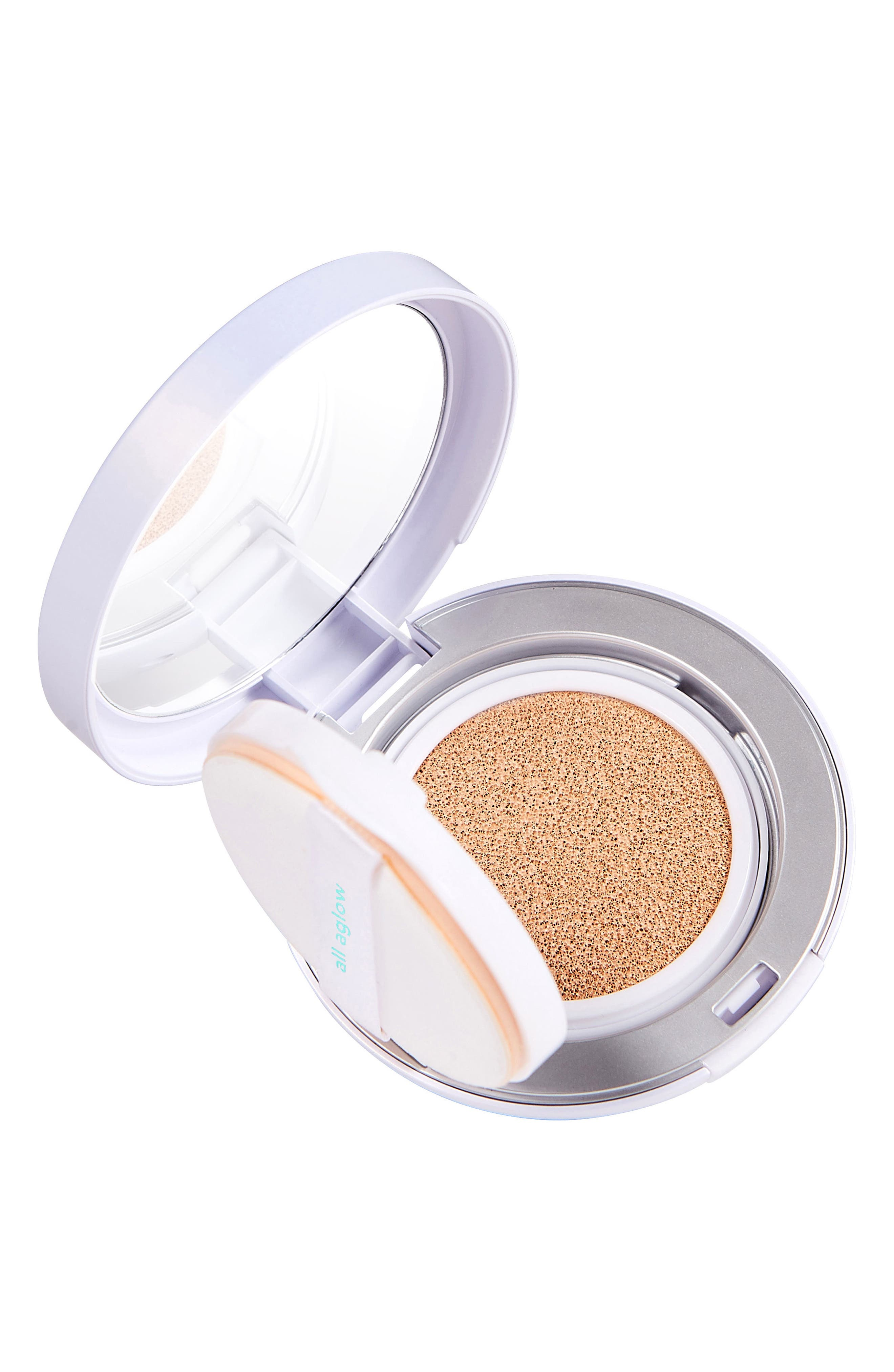 All Aglow Sunscreen Perfection Cushion Compact SPF 50,                             Alternate thumbnail 4, color,                             02 CHAMPAGNE