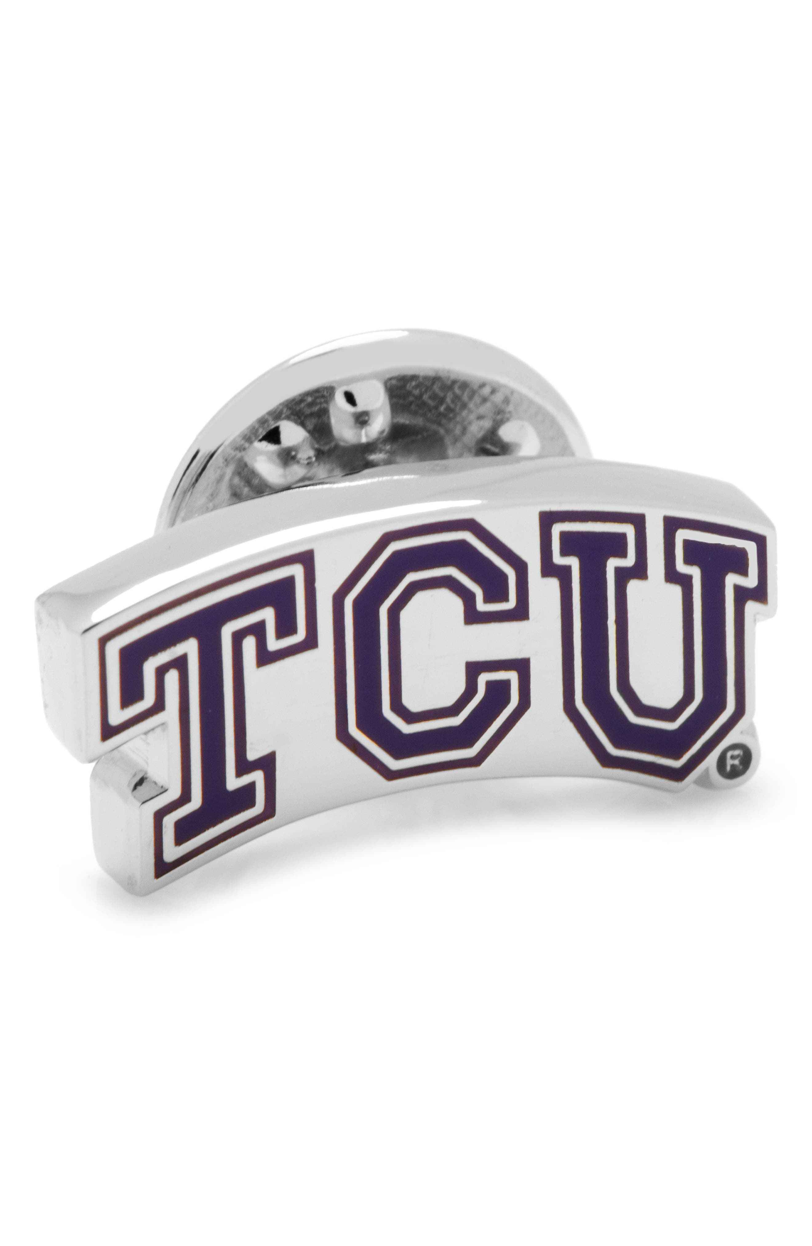 TCU Horned Frogs Lapel Pin,                         Main,                         color, PURPLE