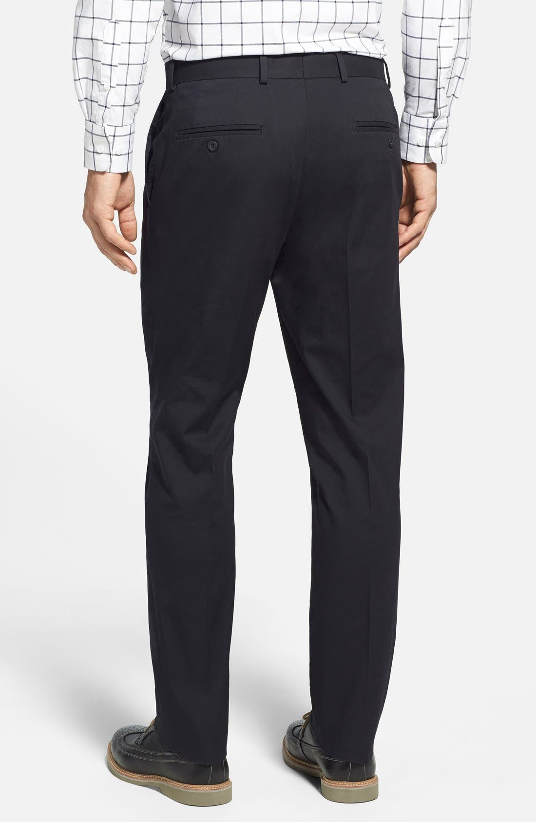 Washed Trim Fit Stretch Cotton Trousers,                             Alternate thumbnail 13, color,