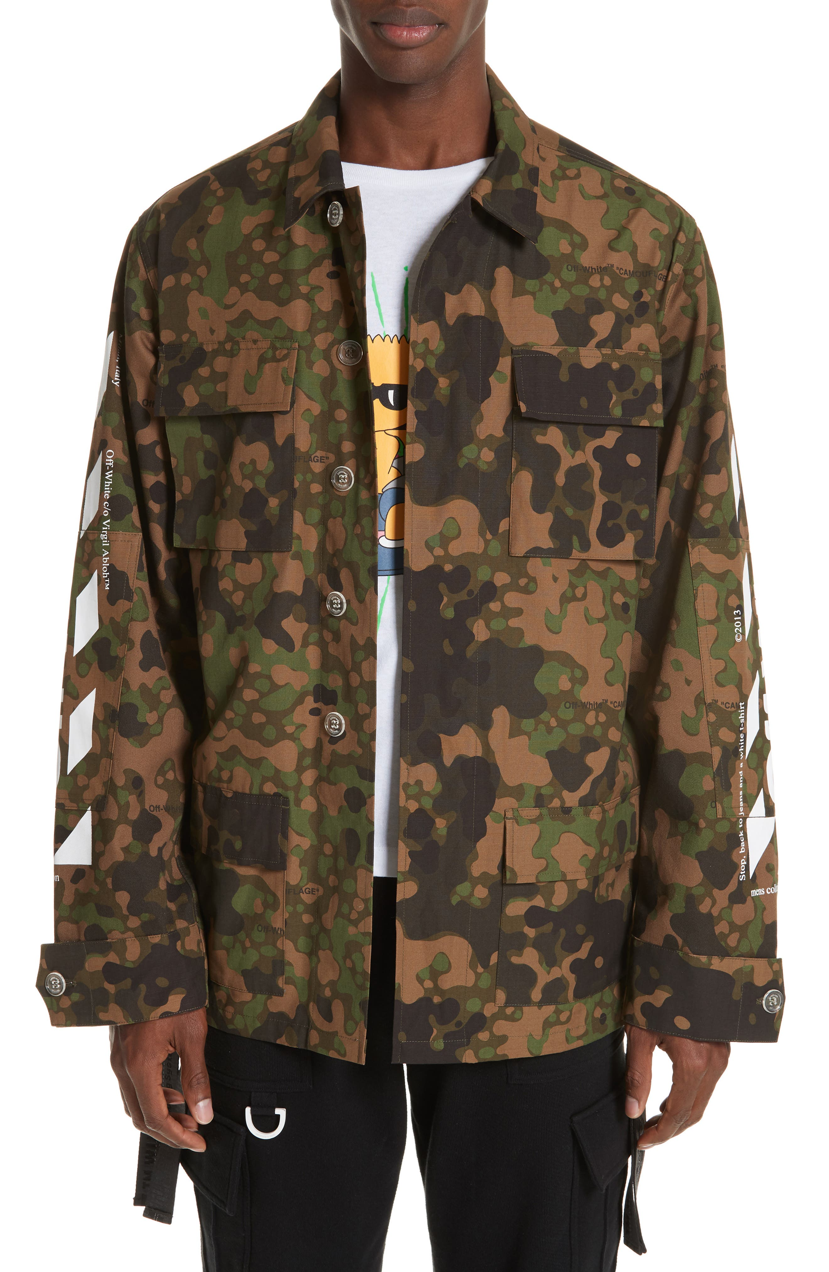OFF-WHITE,                             Camo Field Jacket,                             Main thumbnail 1, color,                             CAMOU WHITE