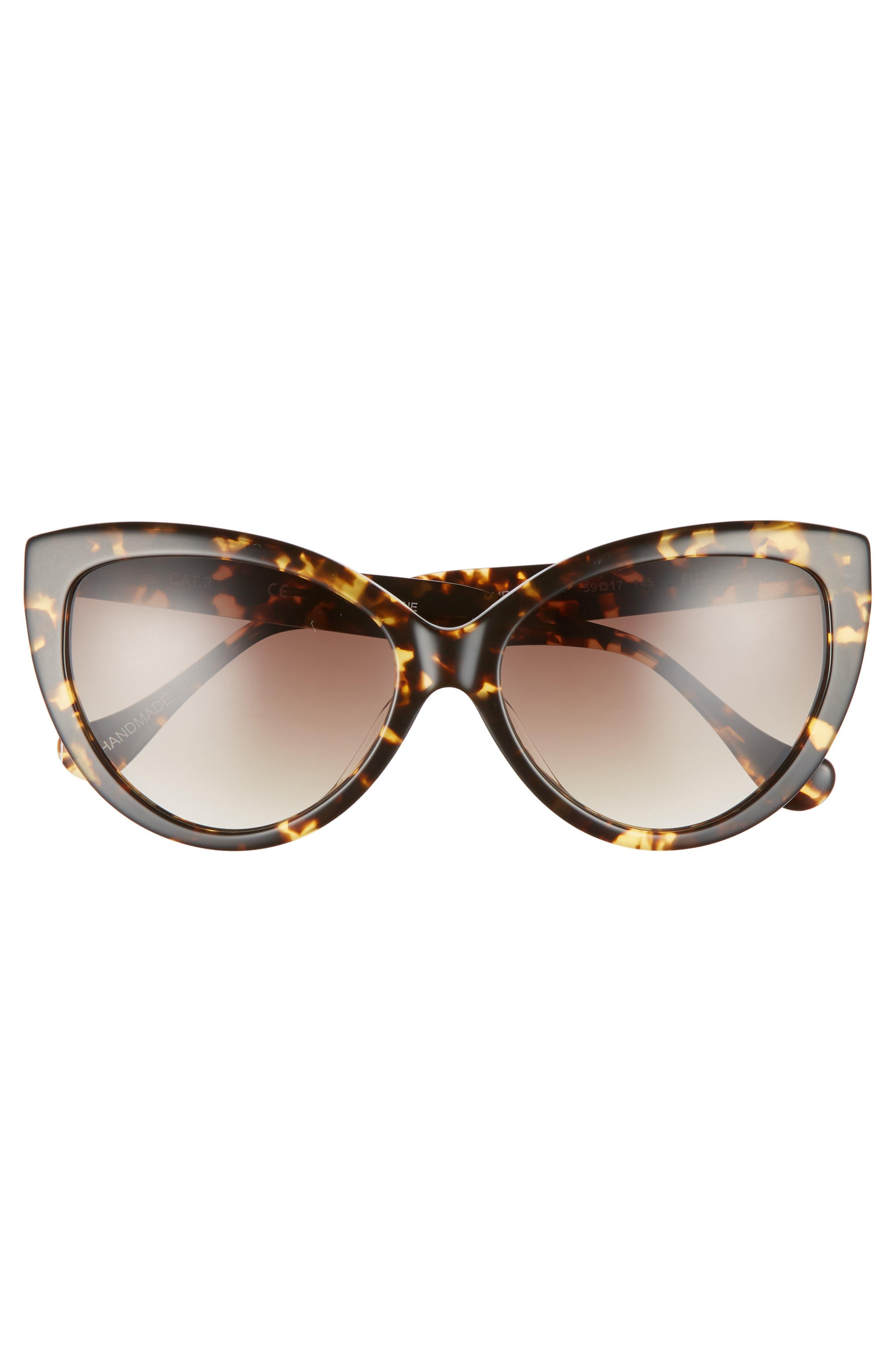 Curiosity 59mm Cat Eye Sunglasses,                             Alternate thumbnail 6, color,