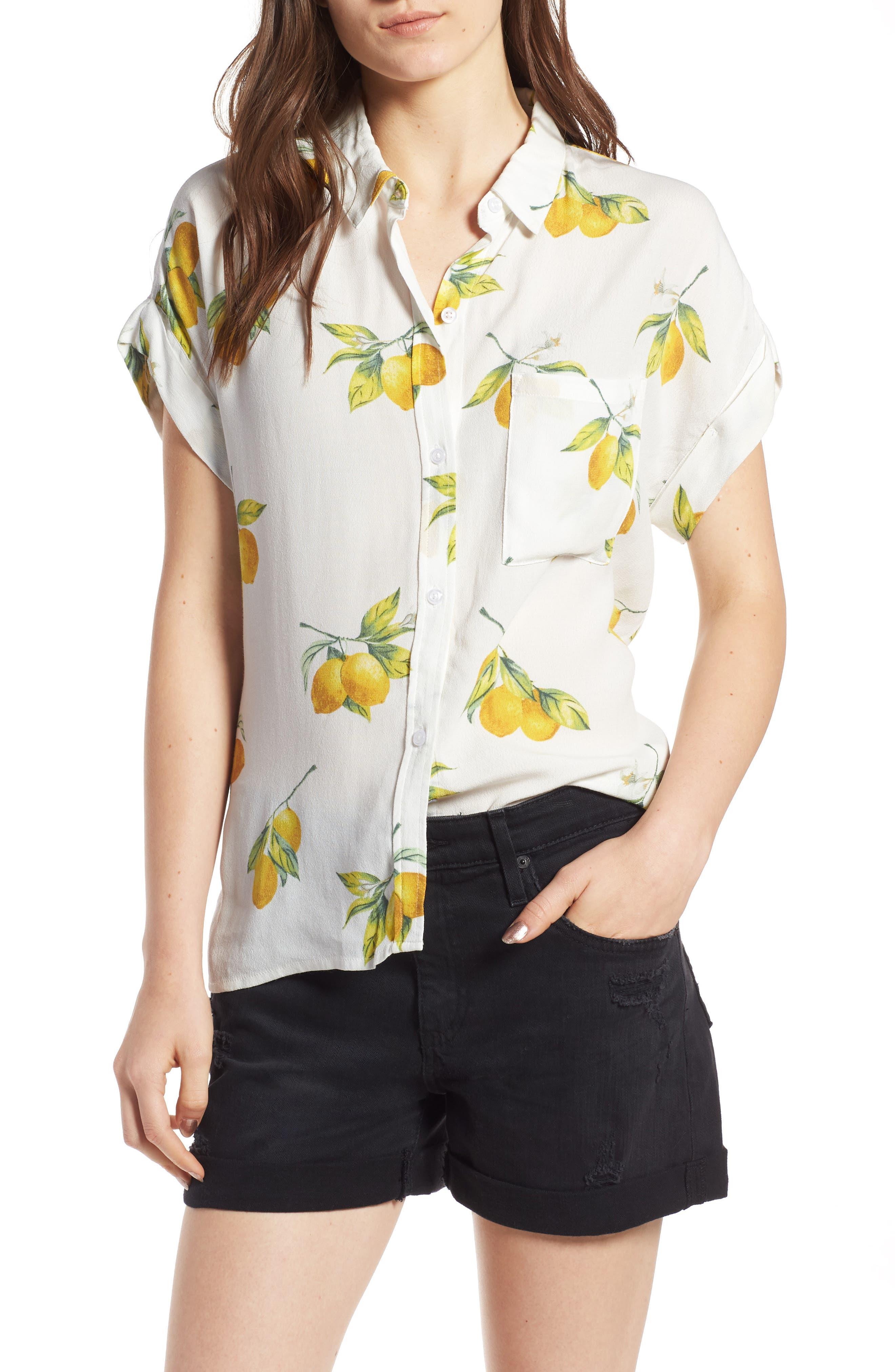 Whitney Print Shirt,                         Main,                         color, 100