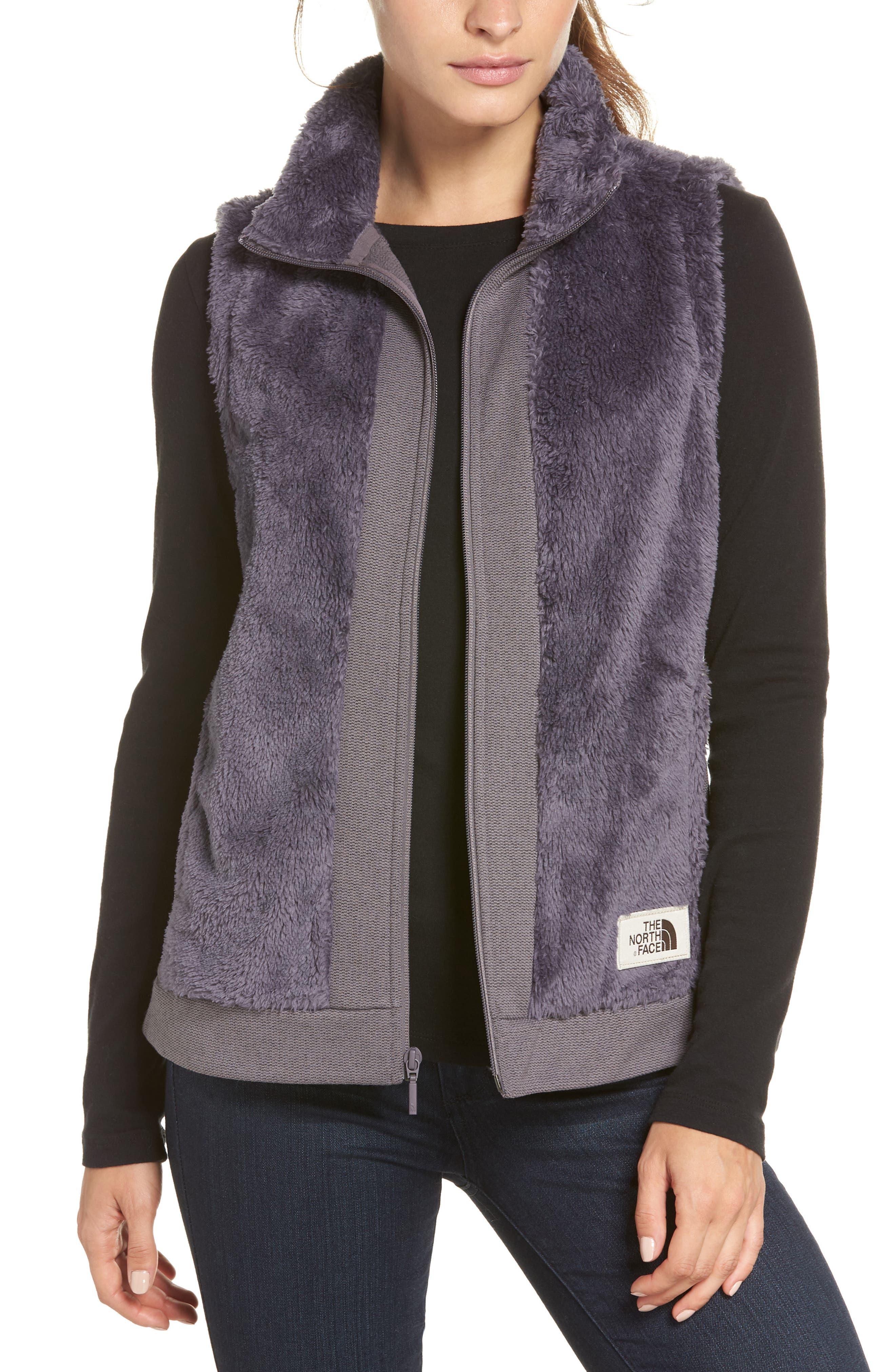THE NORTH FACE Faux Fur Vest, Main, color, 021
