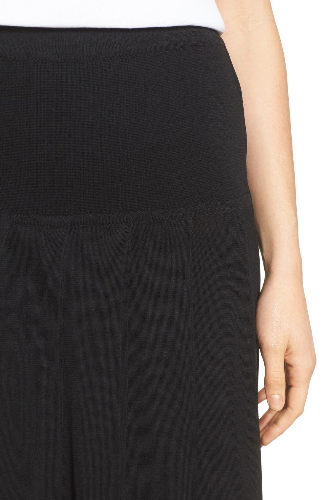 Pleated Midi Skirt,                             Alternate thumbnail 10, color,                             BLACK
