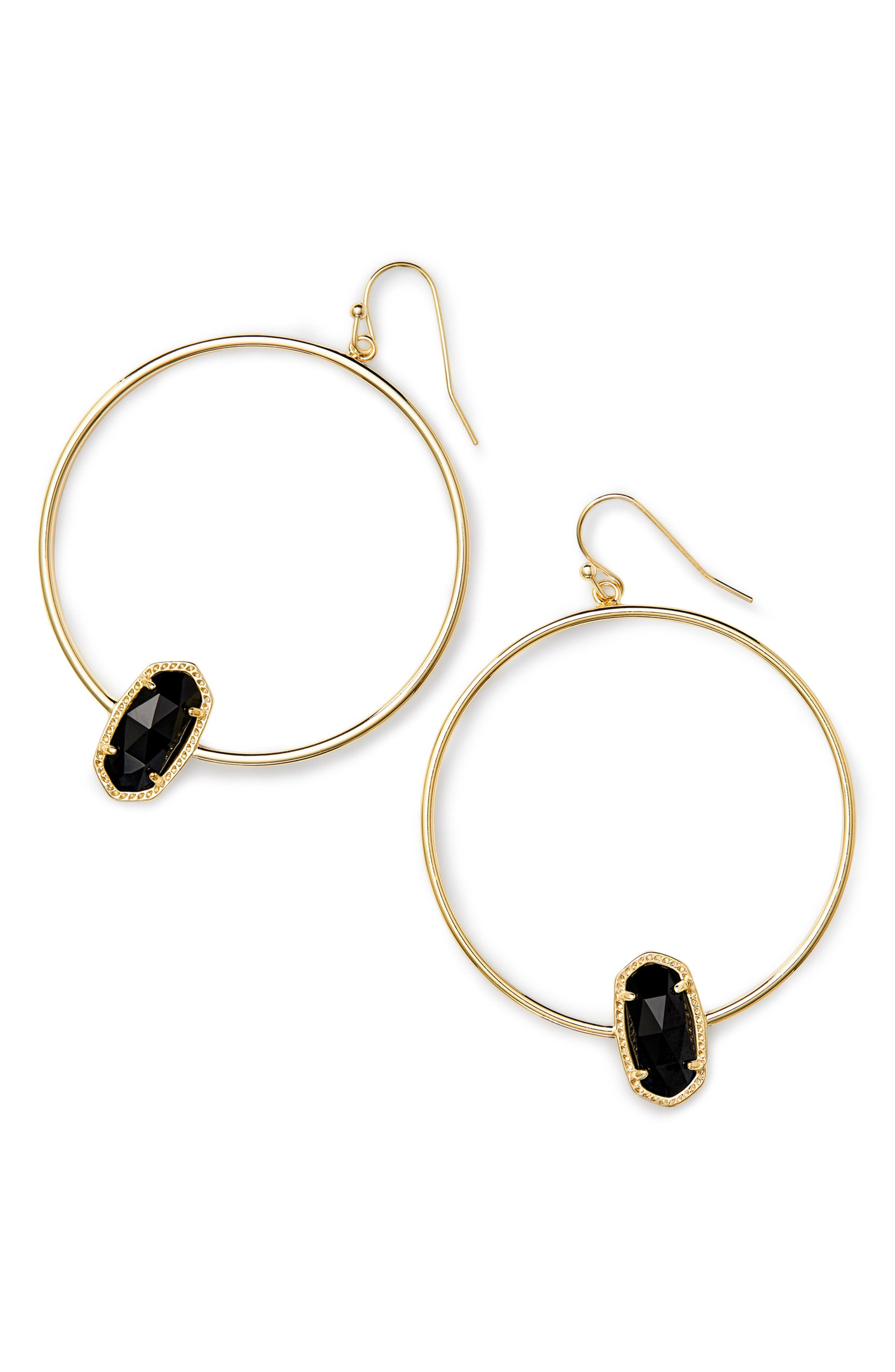 Elora Frontal Hoop Earrings,                             Main thumbnail 2, color,