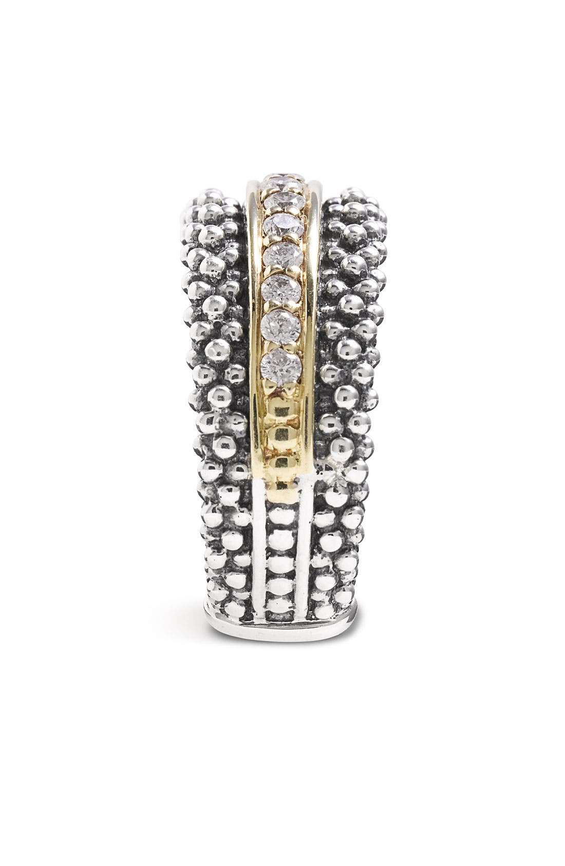 Diamonds & Caviar Ring,                             Alternate thumbnail 3, color,                             SILVER/ GOLD