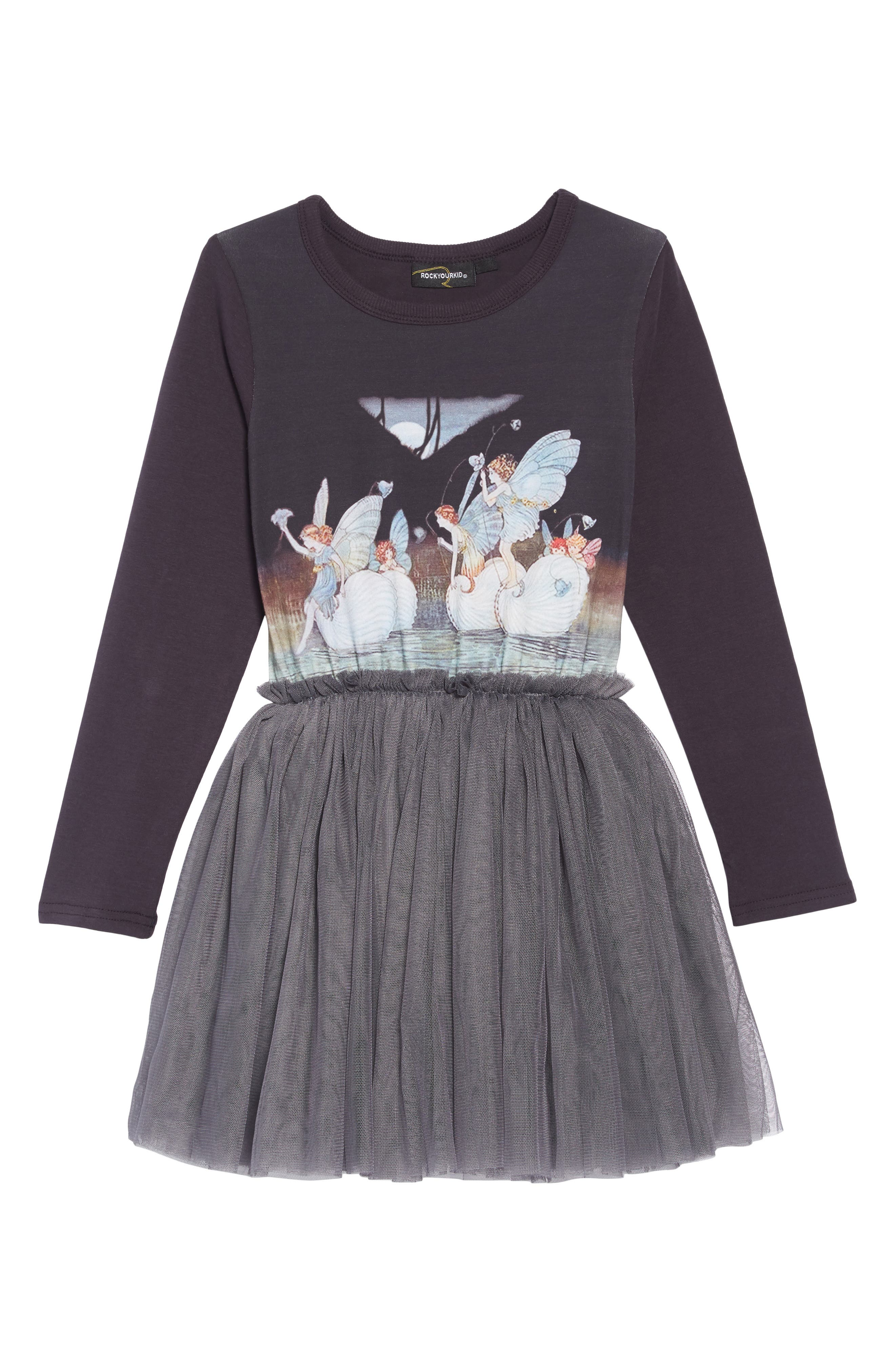 Night Sprite Circus Dress,                         Main,                         color, CHARCOAL