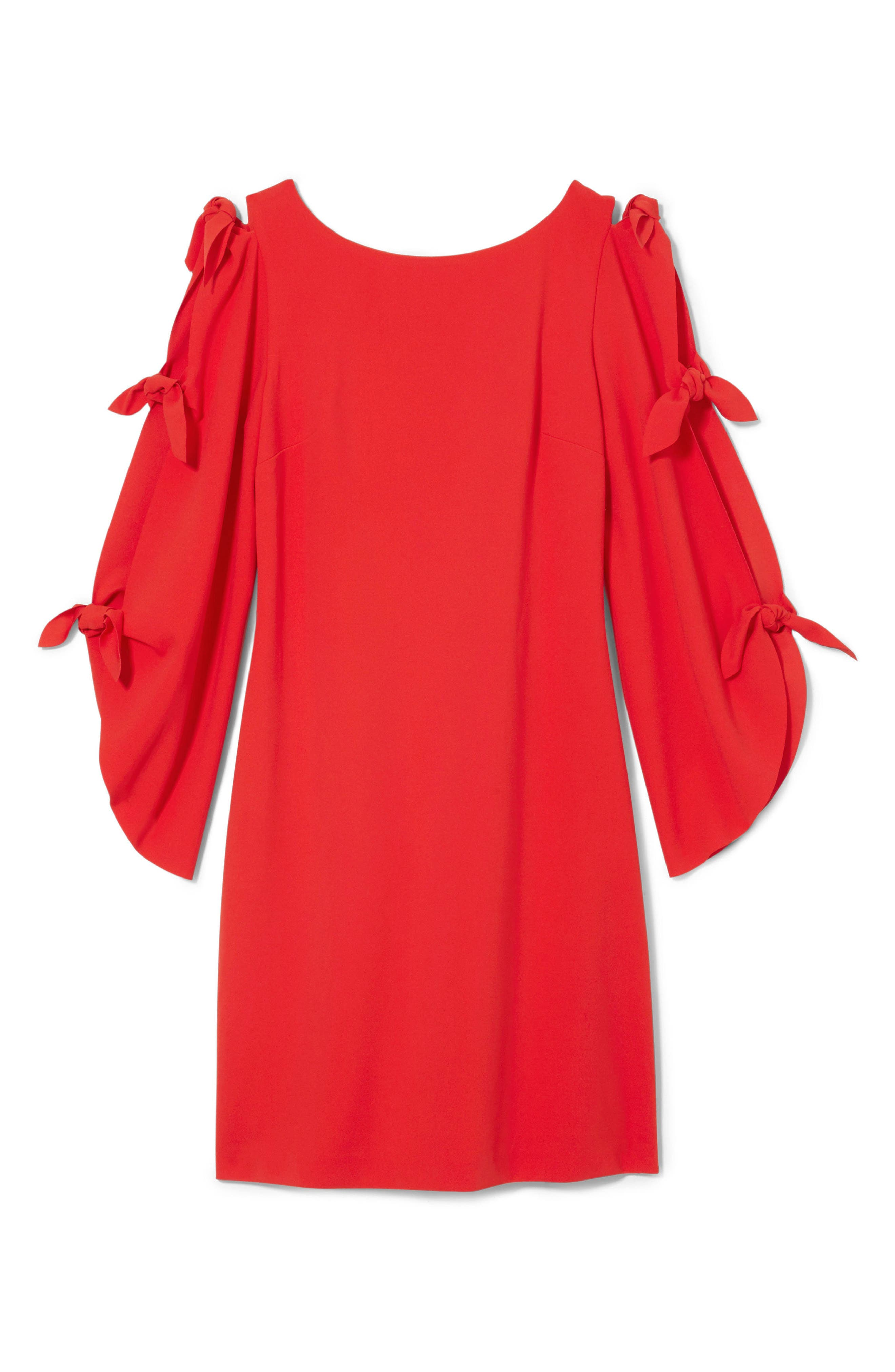 Tie Sleeve Shift Dress,                             Alternate thumbnail 10, color,