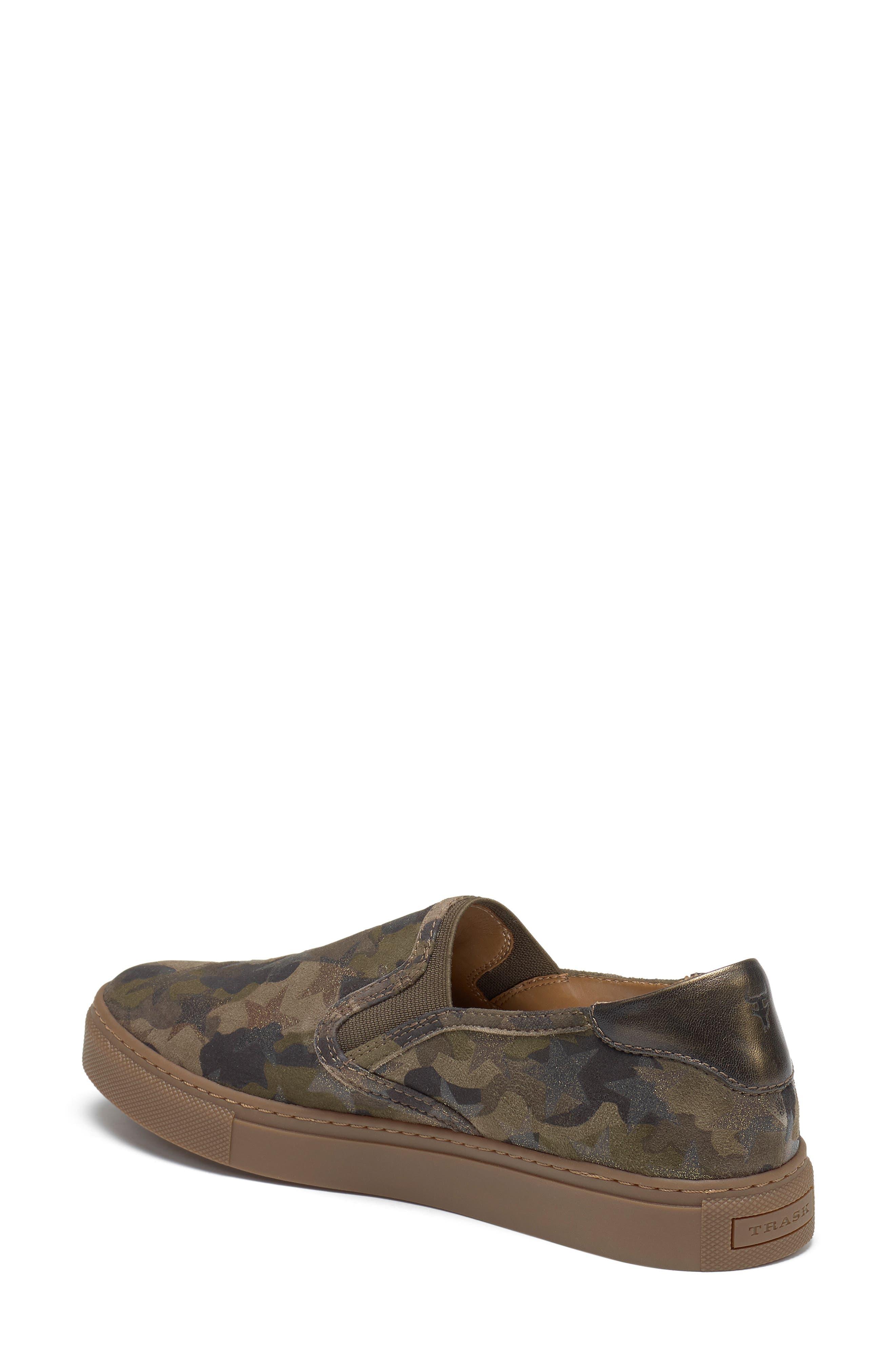 Lillian Water Resistant Slip-On Sneaker,                             Alternate thumbnail 2, color,                             OLIVE STAR PRINT SUEDE